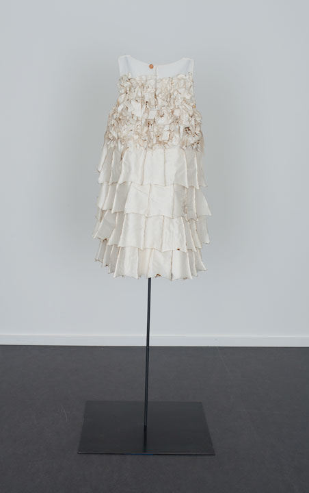 Back of Bat Dress with Singed Silk, The Dowsing 2013