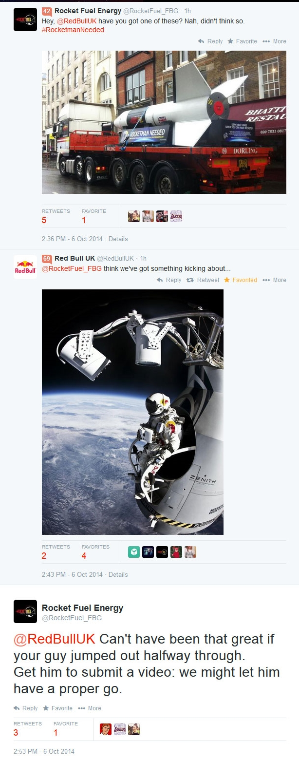 Success in our atempts to annoy Red Bull into replying!