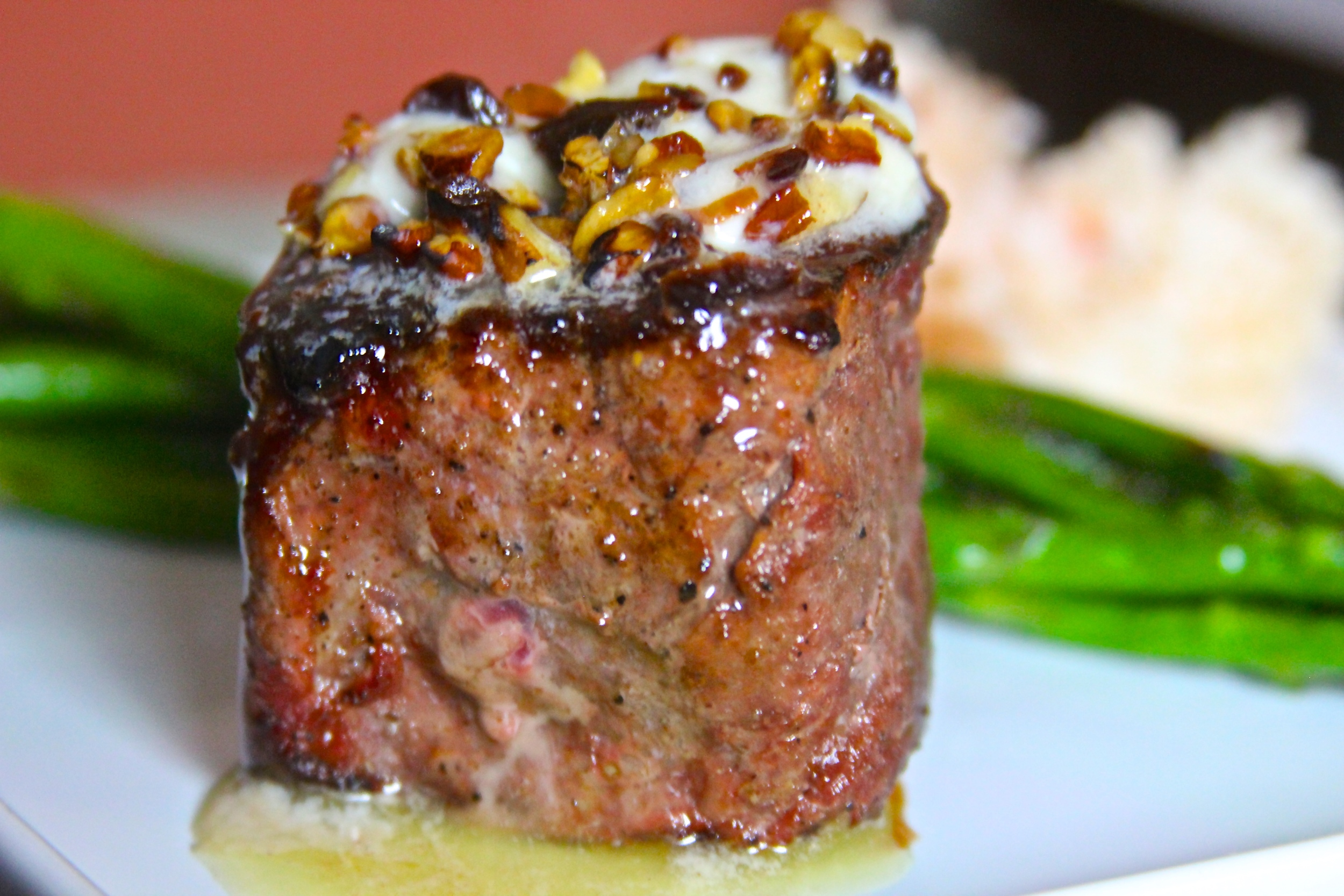 Grilled Venison with Cherry Pecan Butter