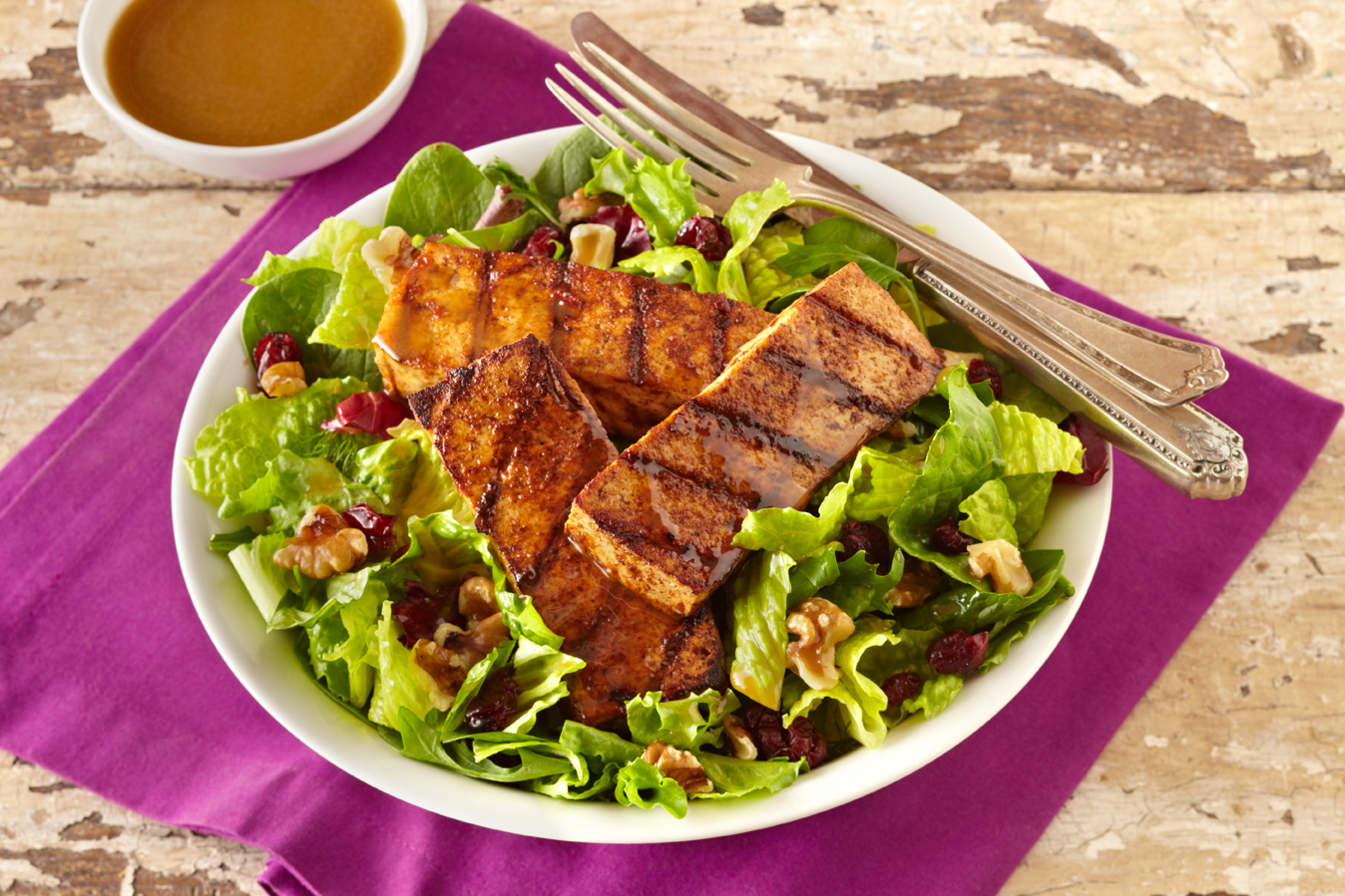 Grilled Spicy Tofu Salad