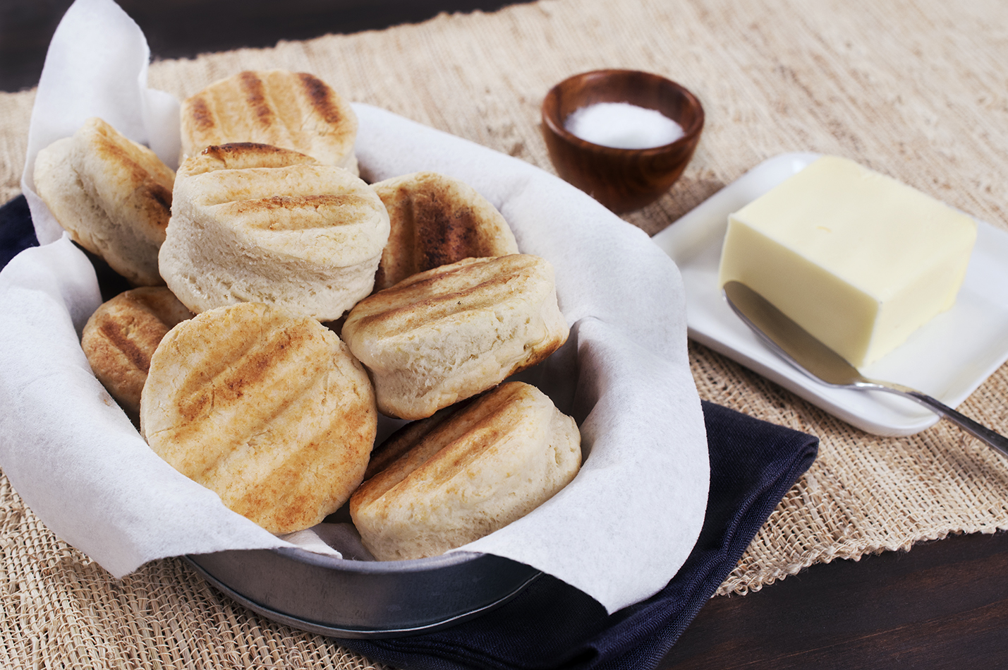 Grilled Biscuits