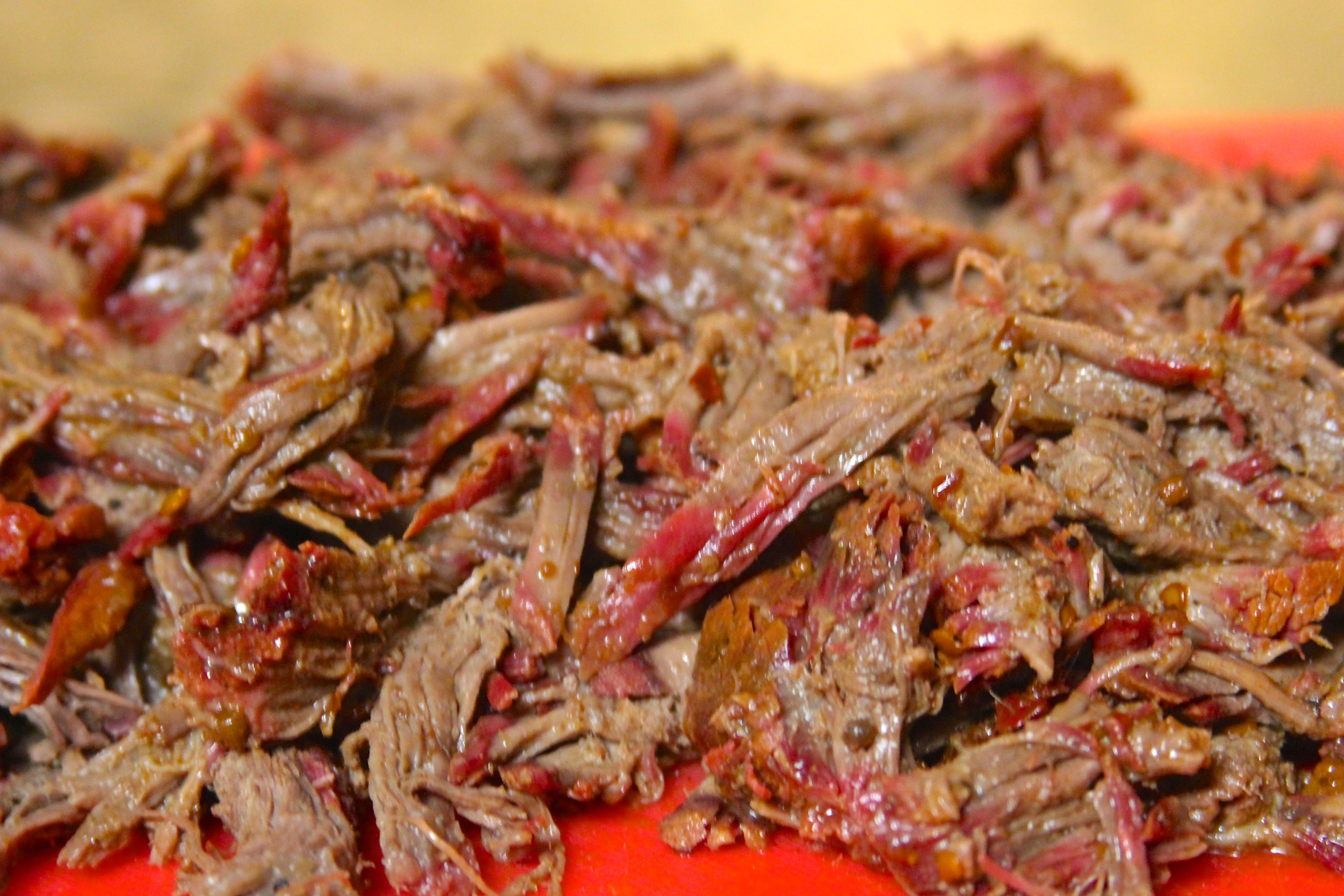 Shredded chuck roast
