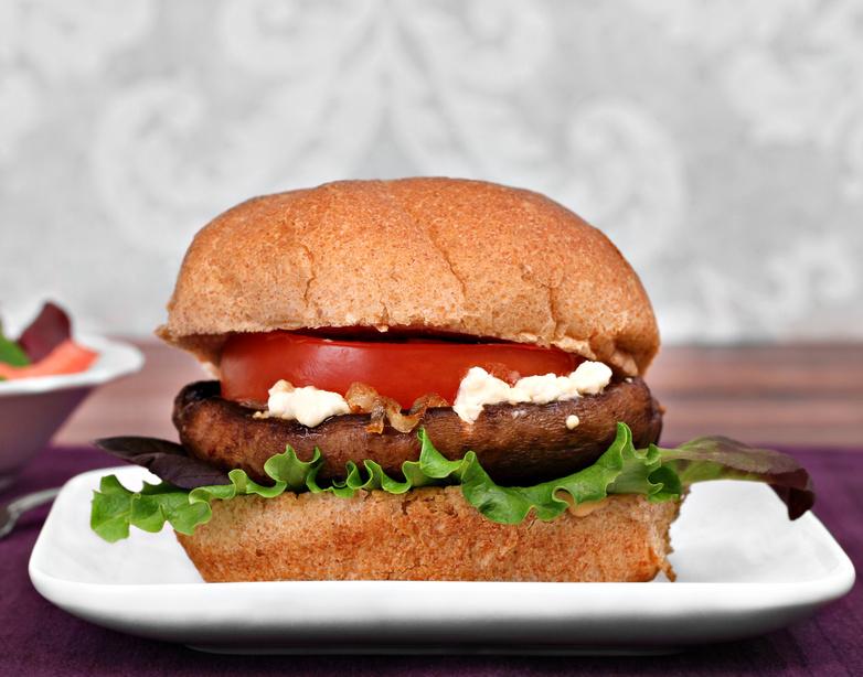 Cheese Stuffed Portobello Burger