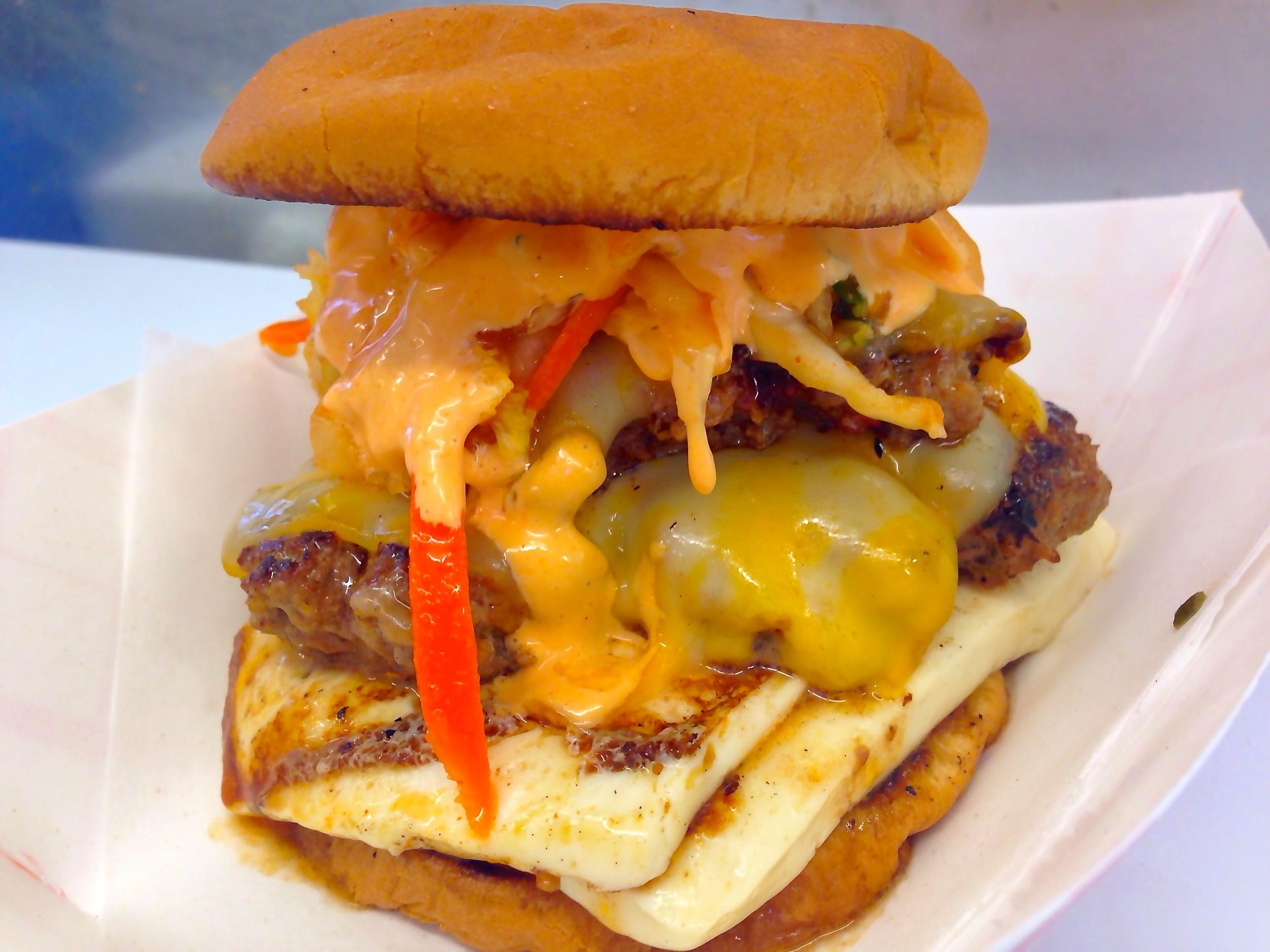 Grilled Kimchi Burger