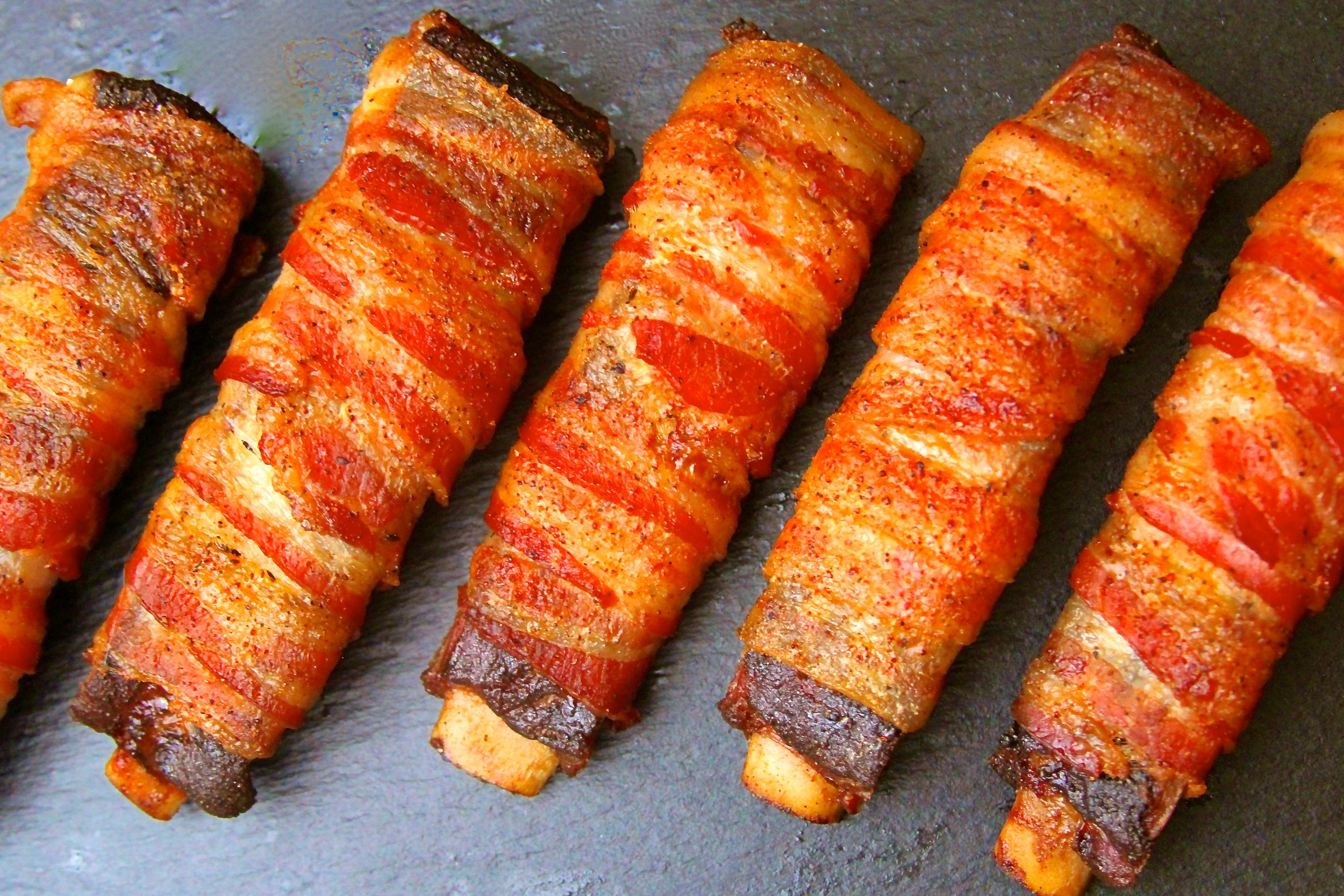 Smoked Bacon Wrapped Ribs