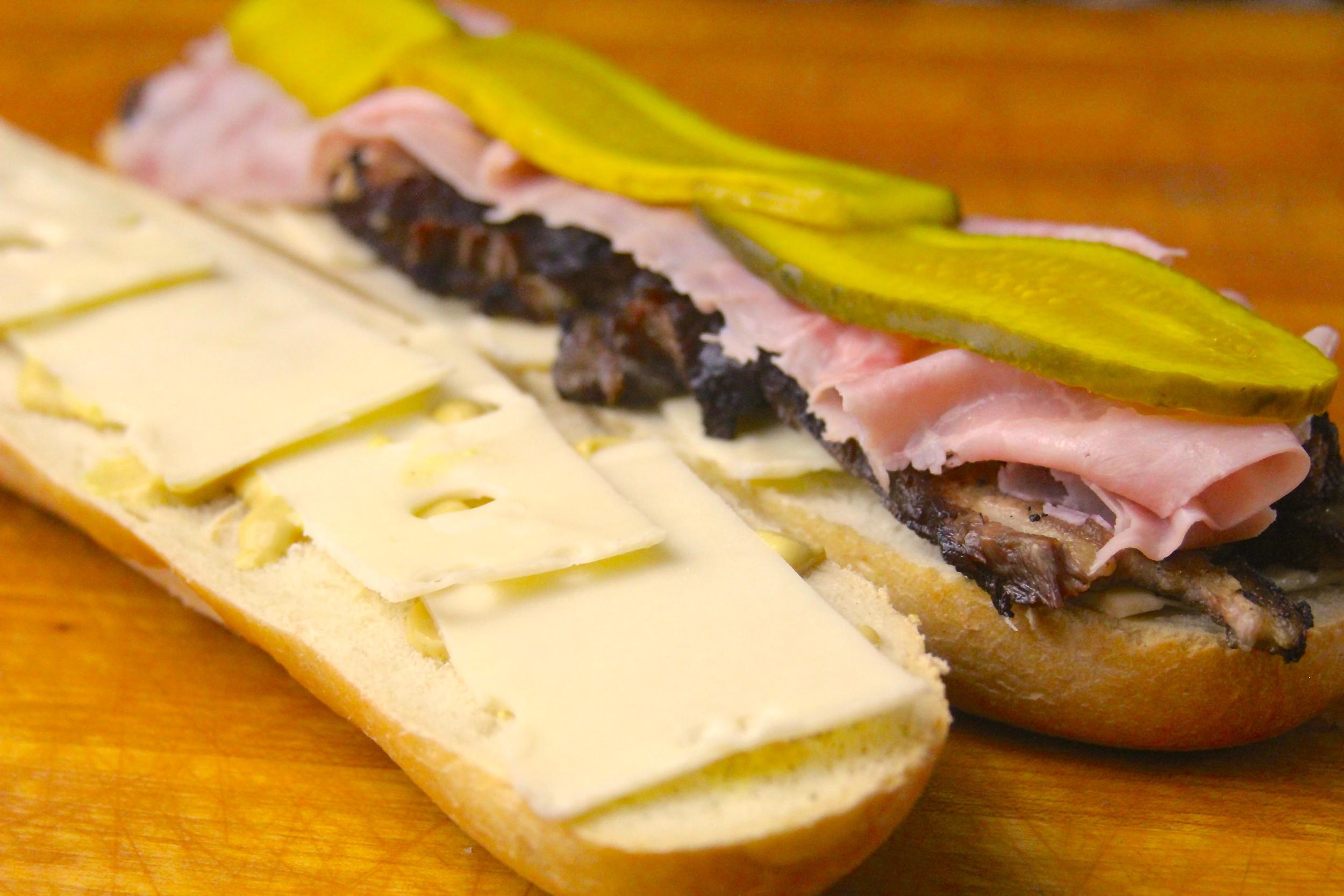 Assemble Pork Belly Cuban Sandwiches