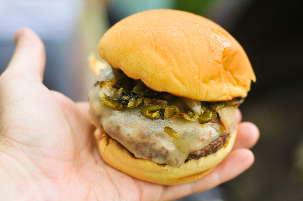 Meatwave Green Chile Cheeseburger