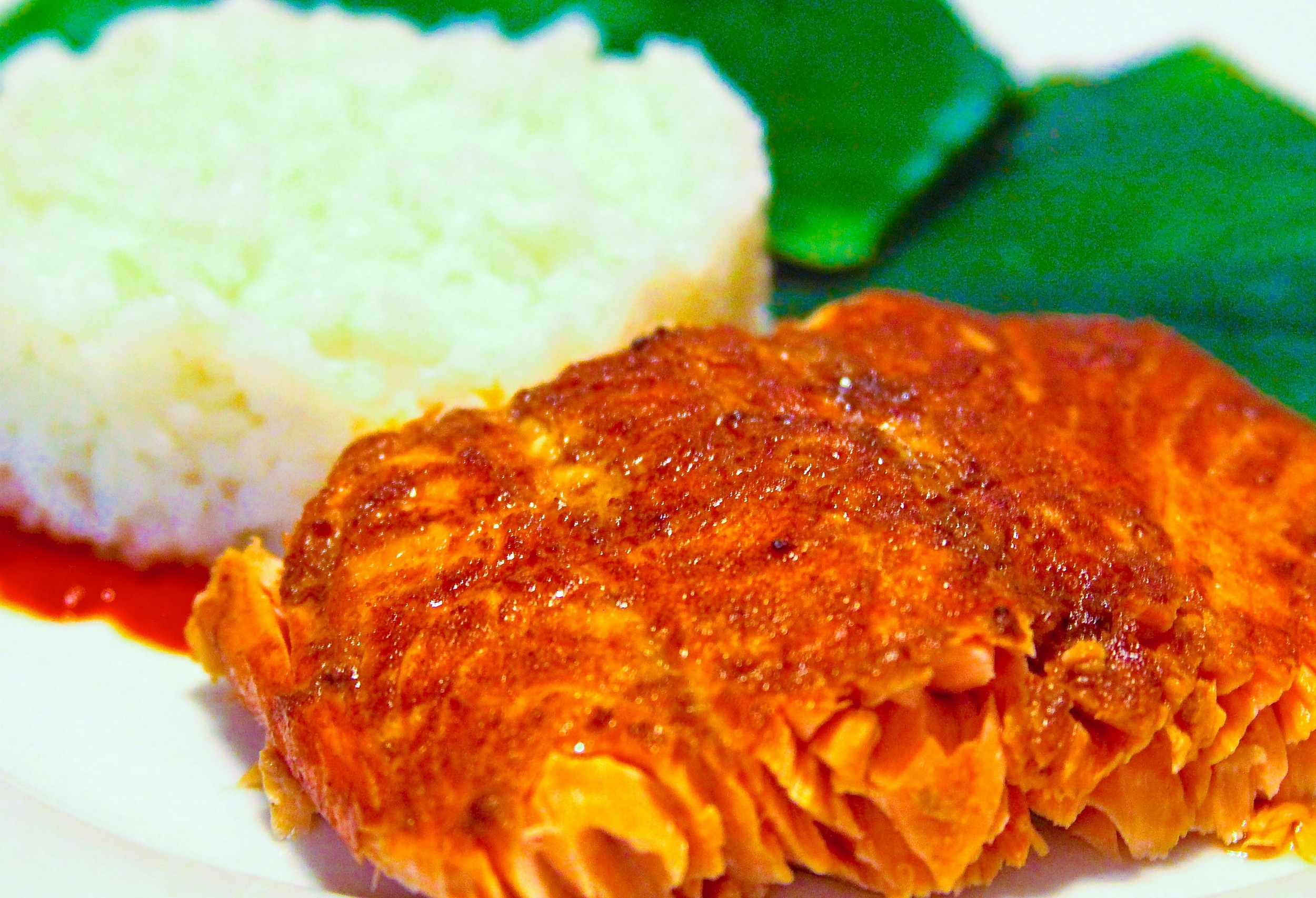 Banana Leaf Grilled Salmon