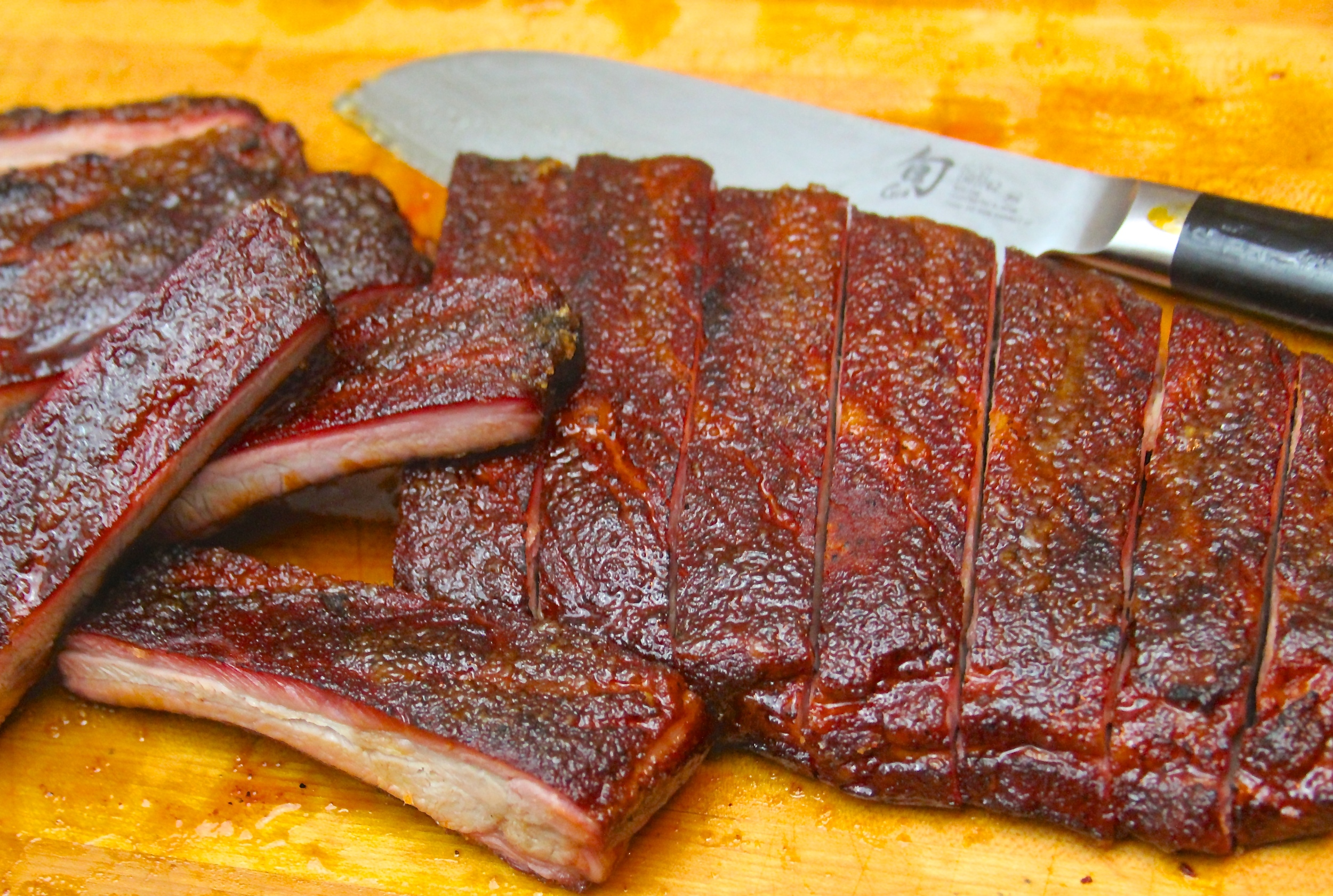Smoked Candied RIbs (aka Bruleed Ribs)