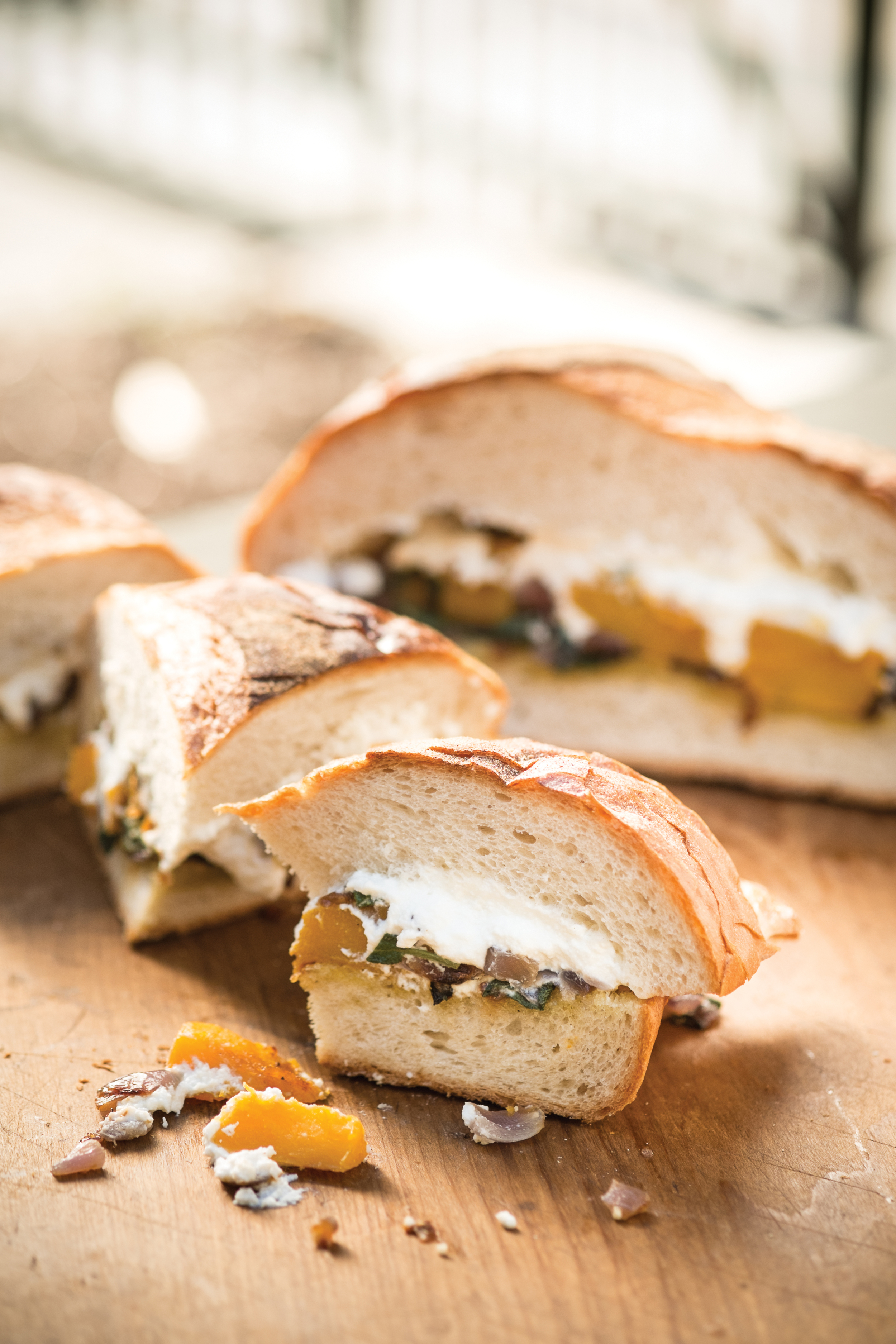 Grill-Roasted Butternut Squash, Red Onion, Sage and RIcotta Loaf; Photo by Steve Legato