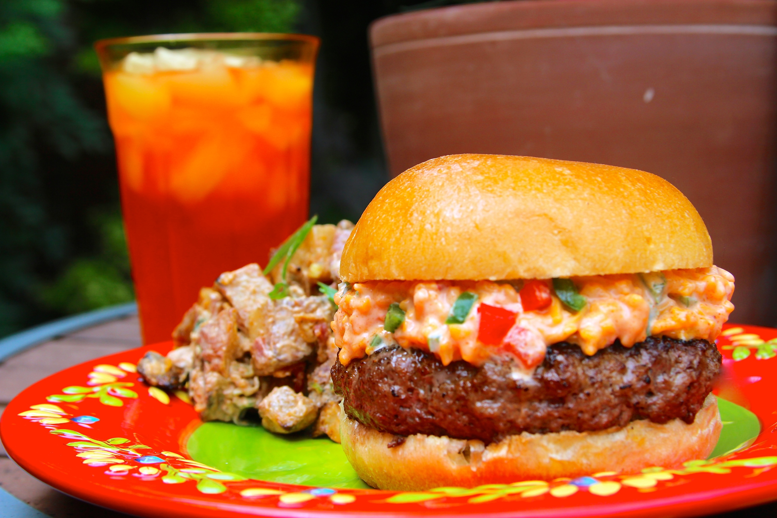 Grilled Pimento Cheese Burger