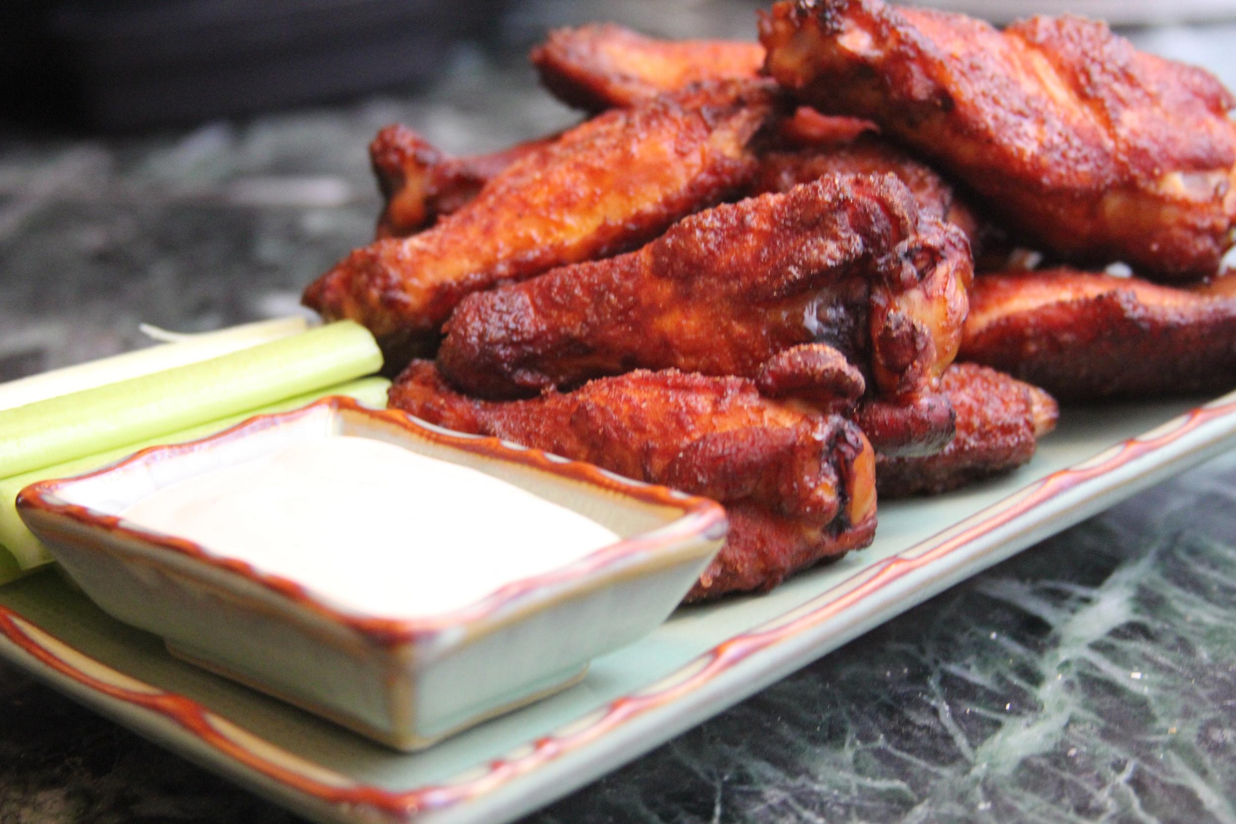 Grilled Sriracha Dry Rub Wings