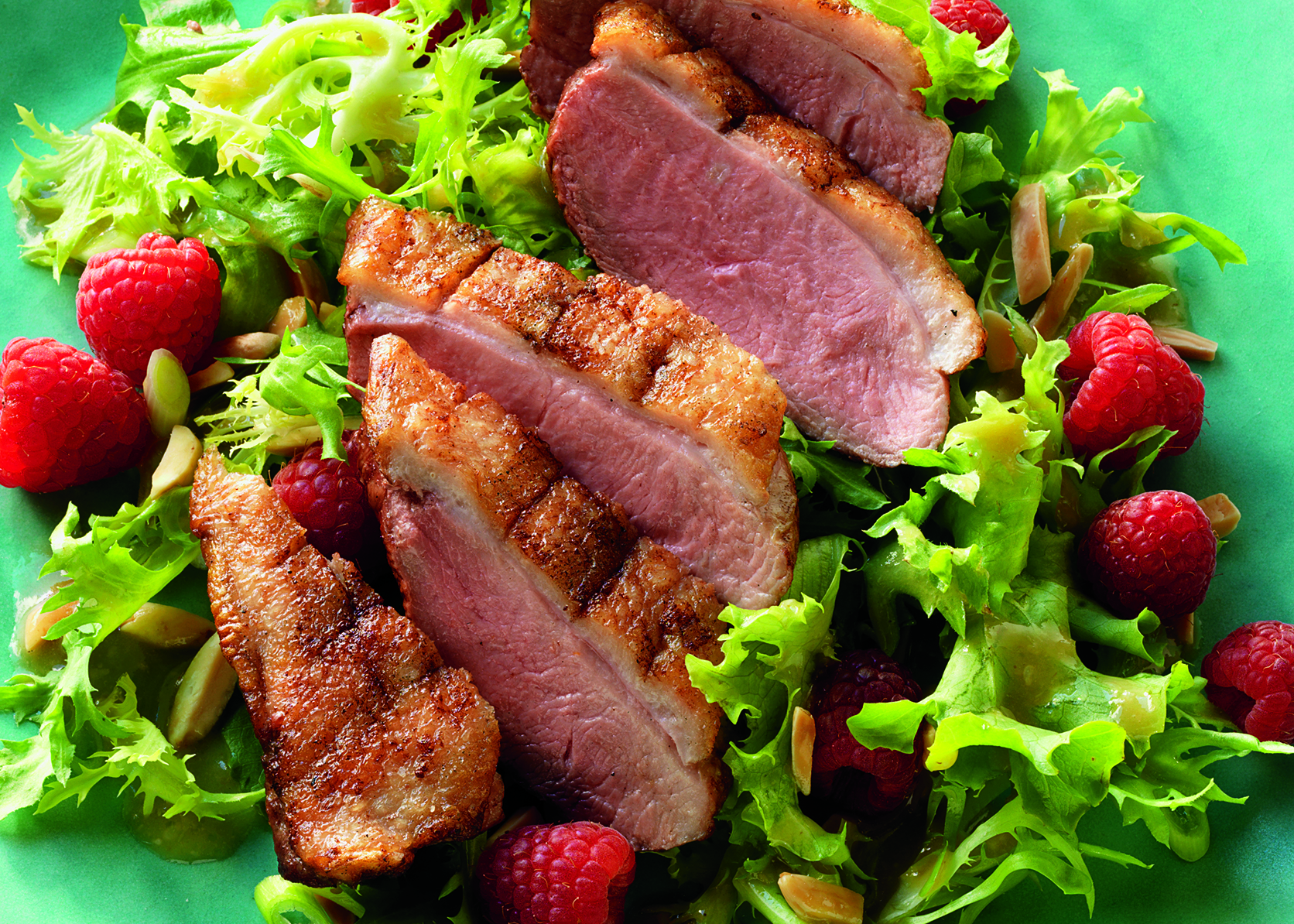 Grilled Duck Breast Salad with Hoisin Dressing