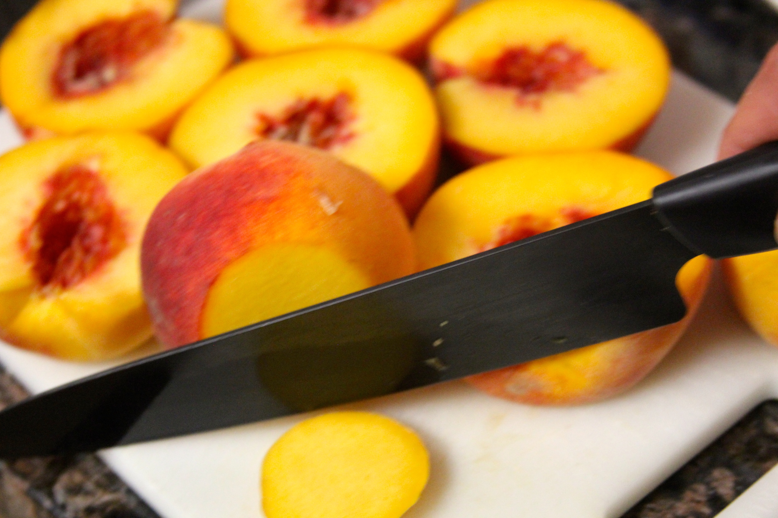 Remove Ends from Peaches