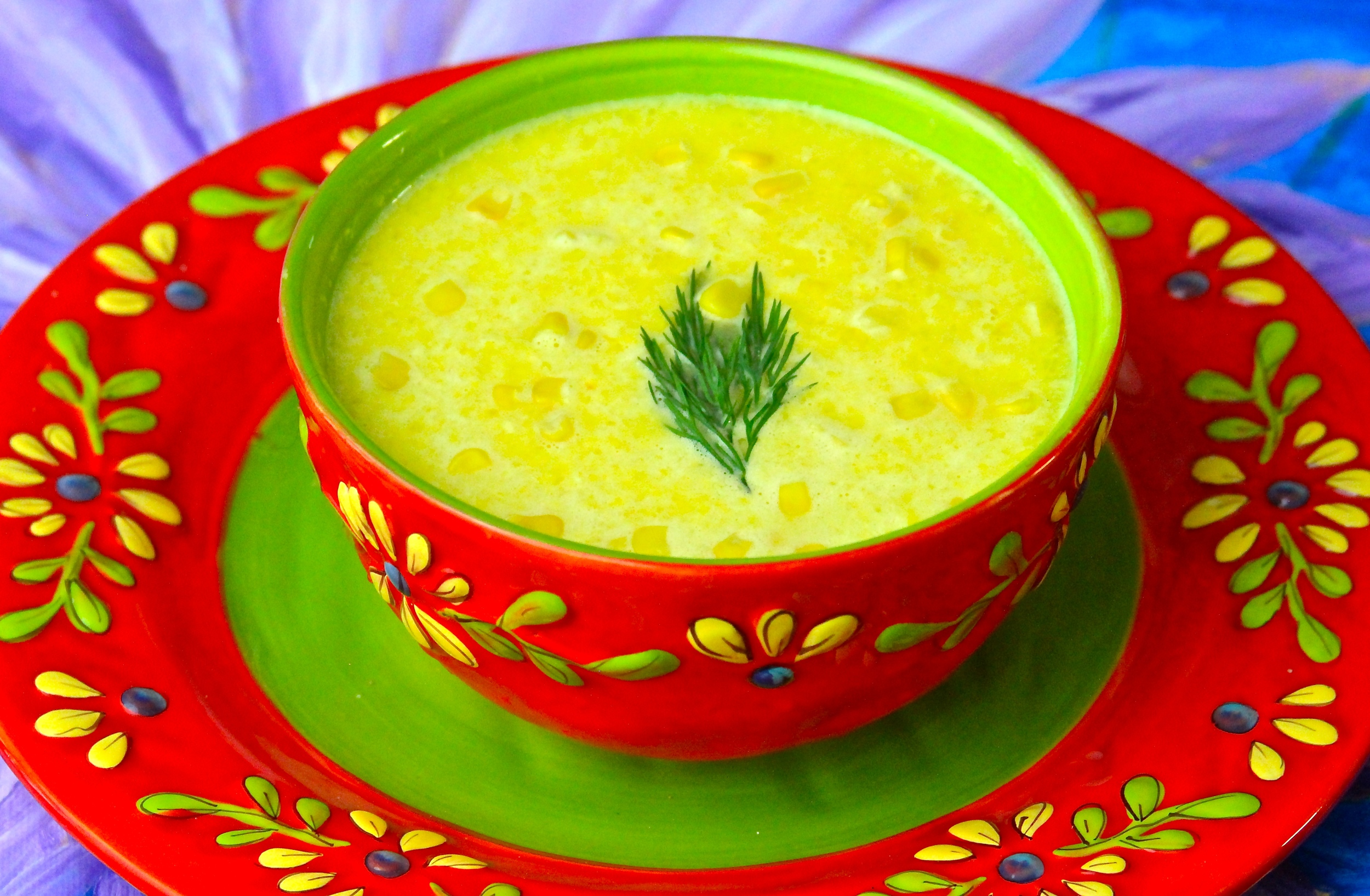 Cold Grilled Corn Soup