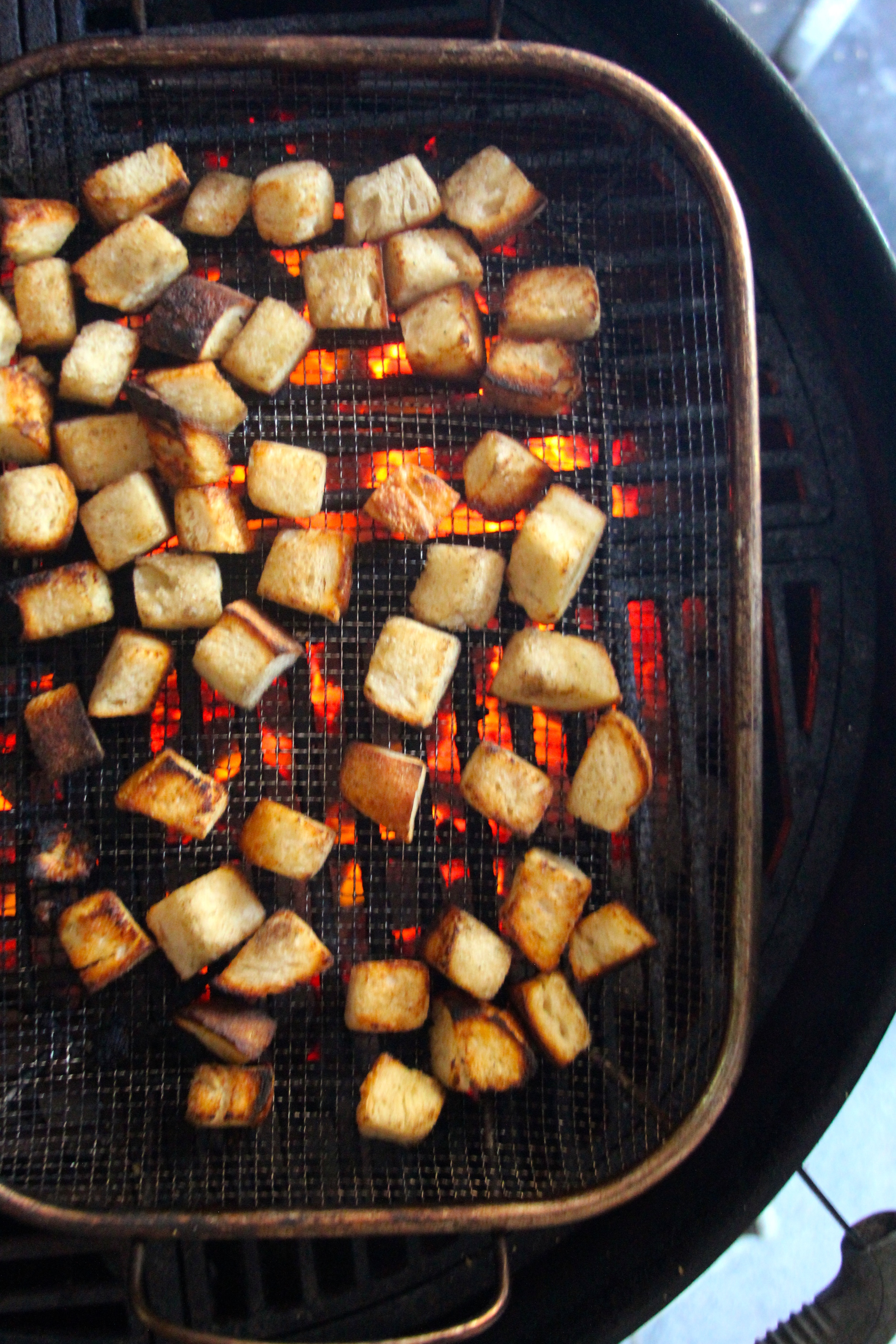 Grilled Sourdough Croutons