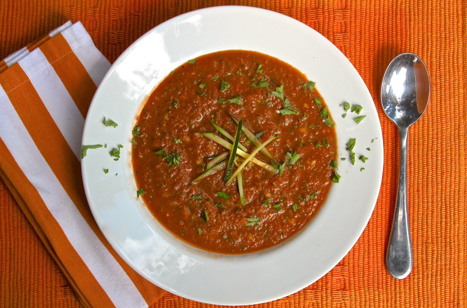 Grilled and Chilled Gazpacho Soup