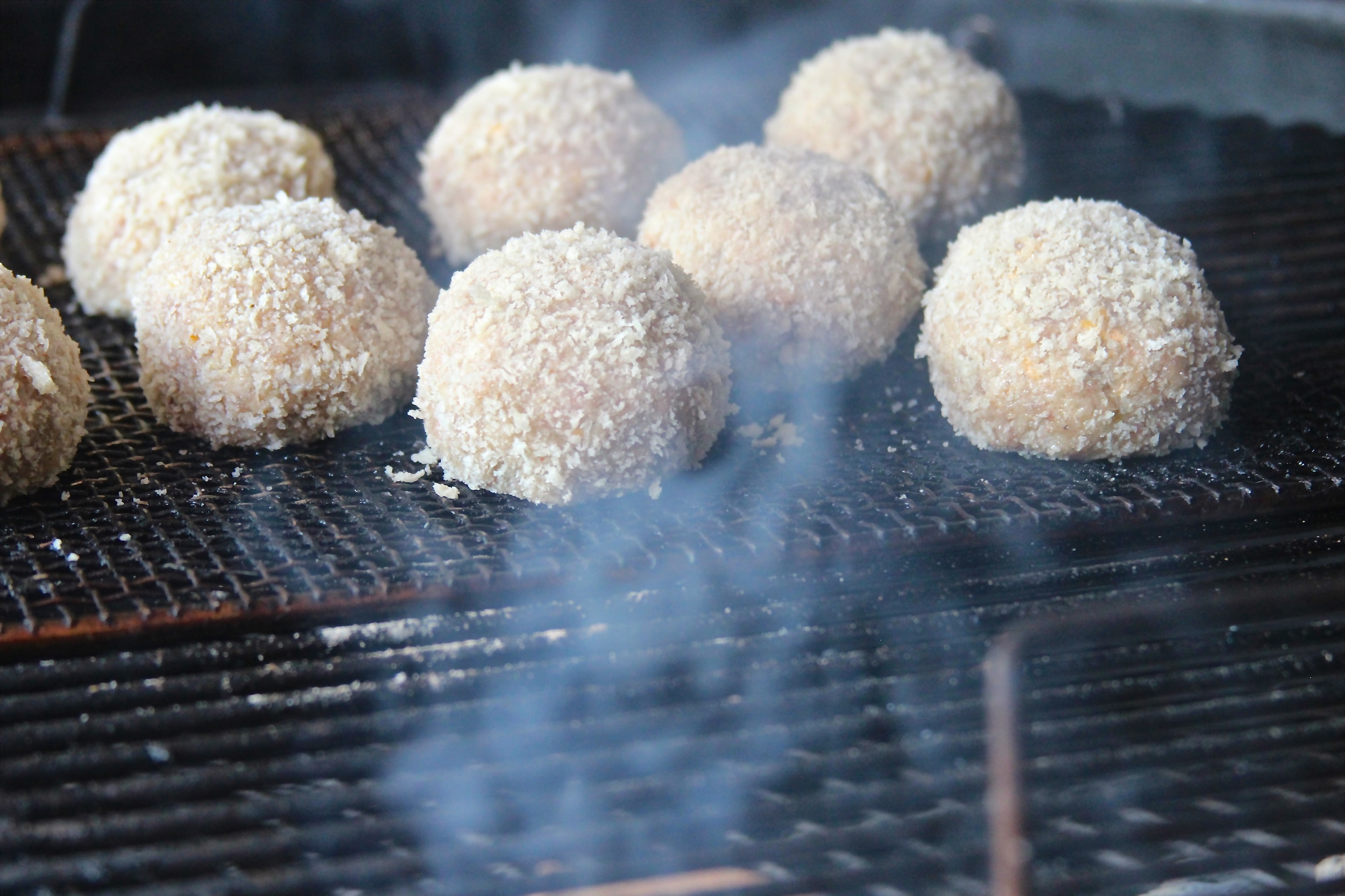 Panko Crusted Armadillo Eggs on the Grill