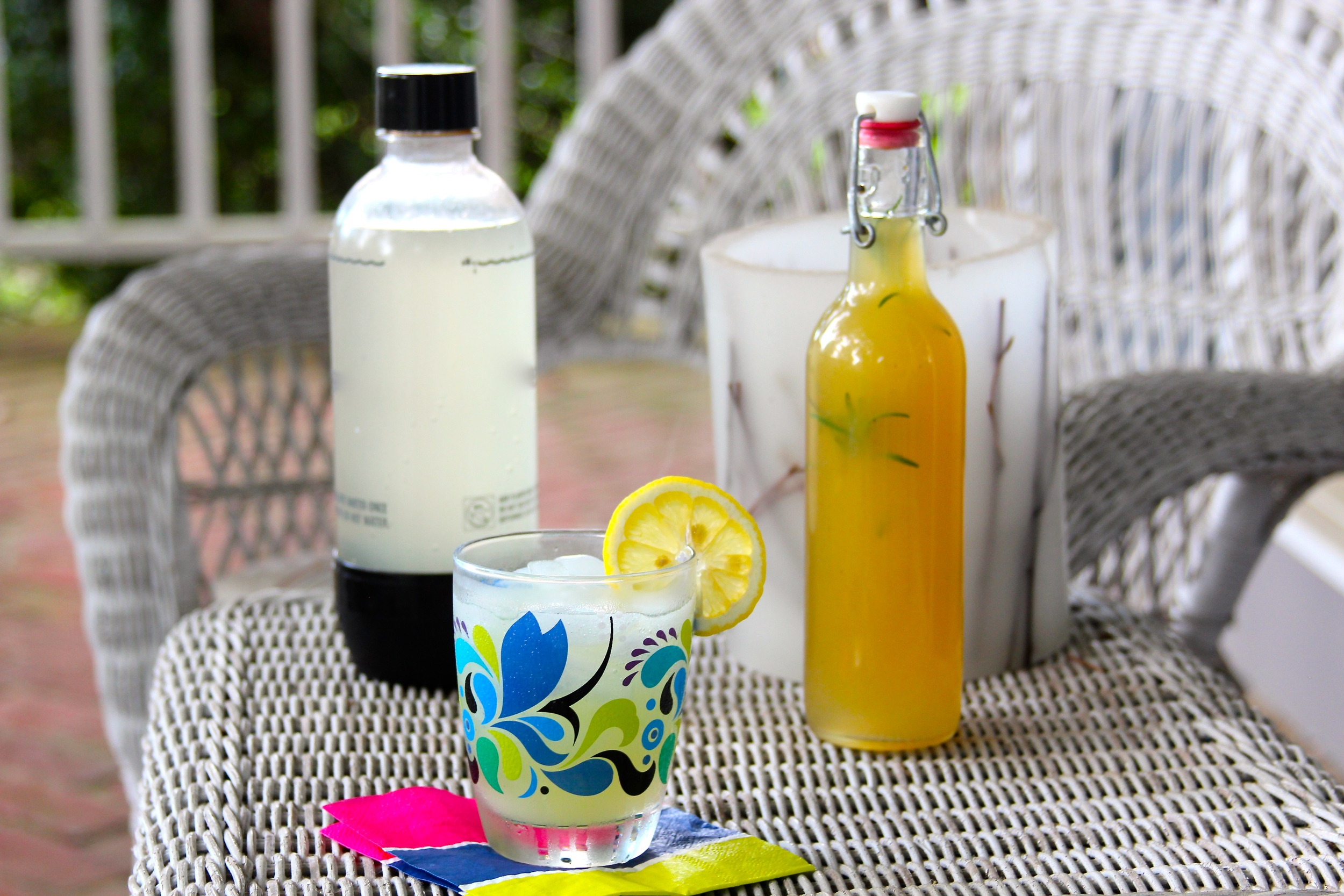 Grilled Lemon and Rosemary Soda Syrup