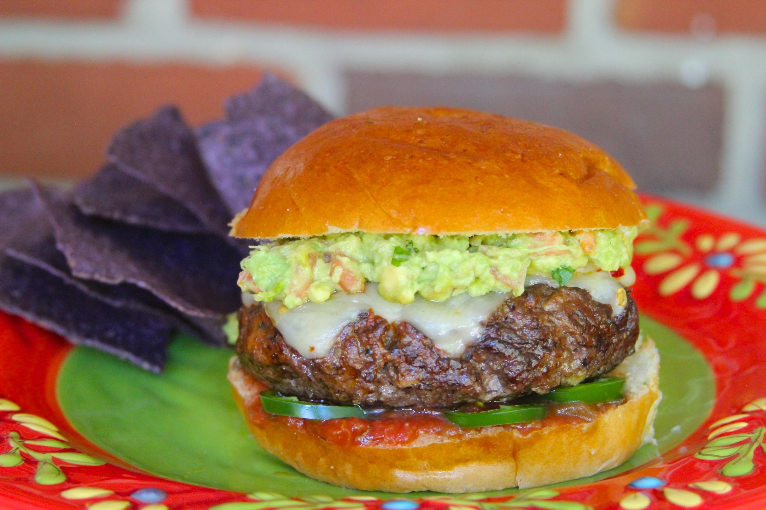 Muy Caliente Guacamole Burger