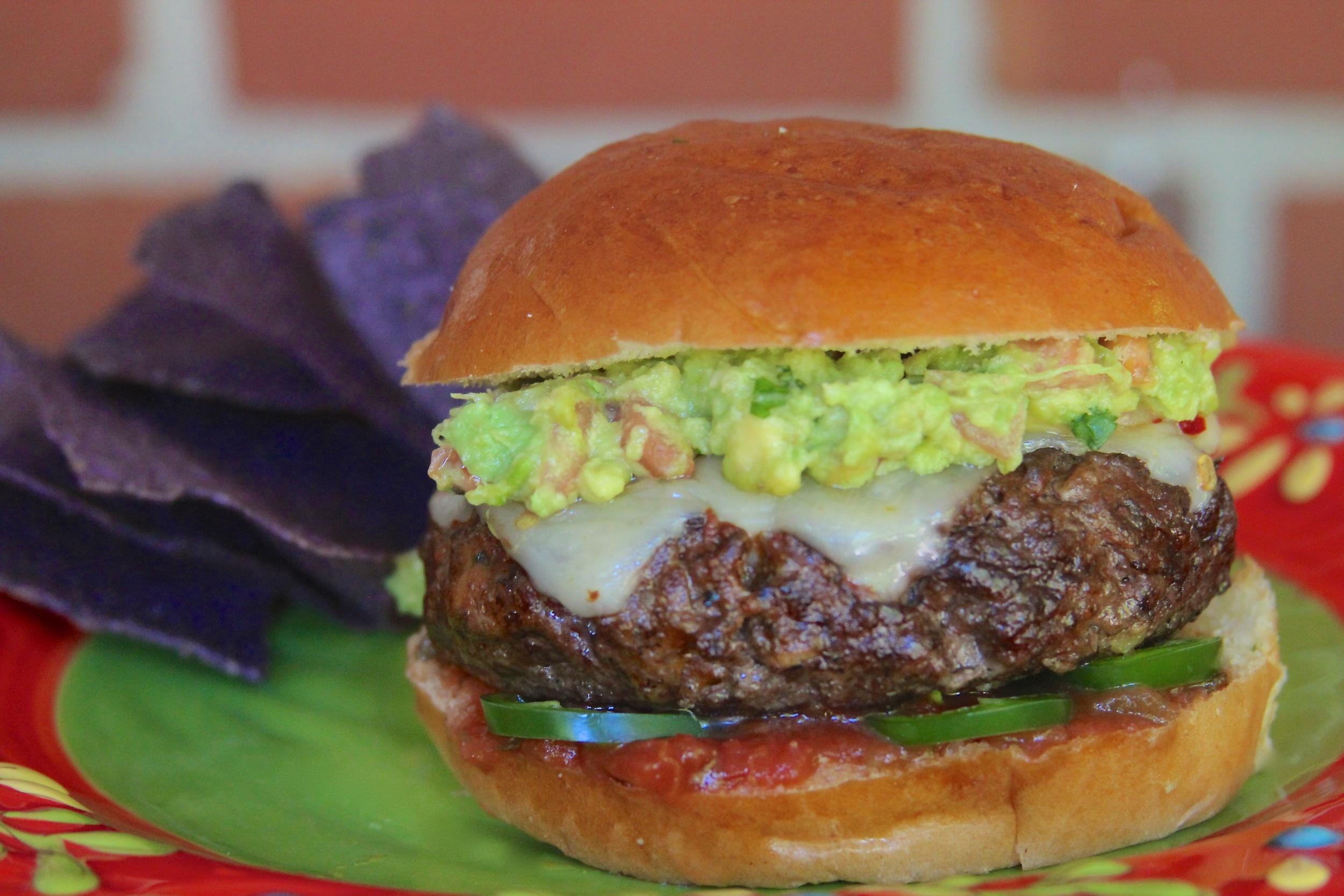 Fire Eater Guacamole Burger