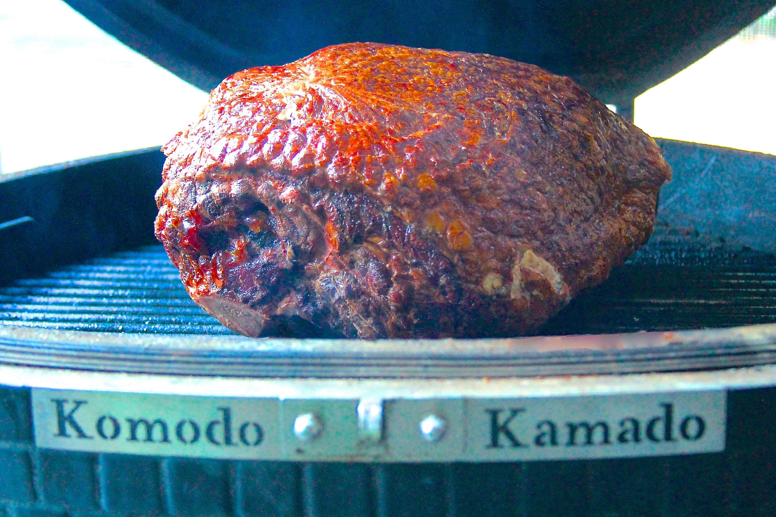 Kurobuta Ham on the Smoker