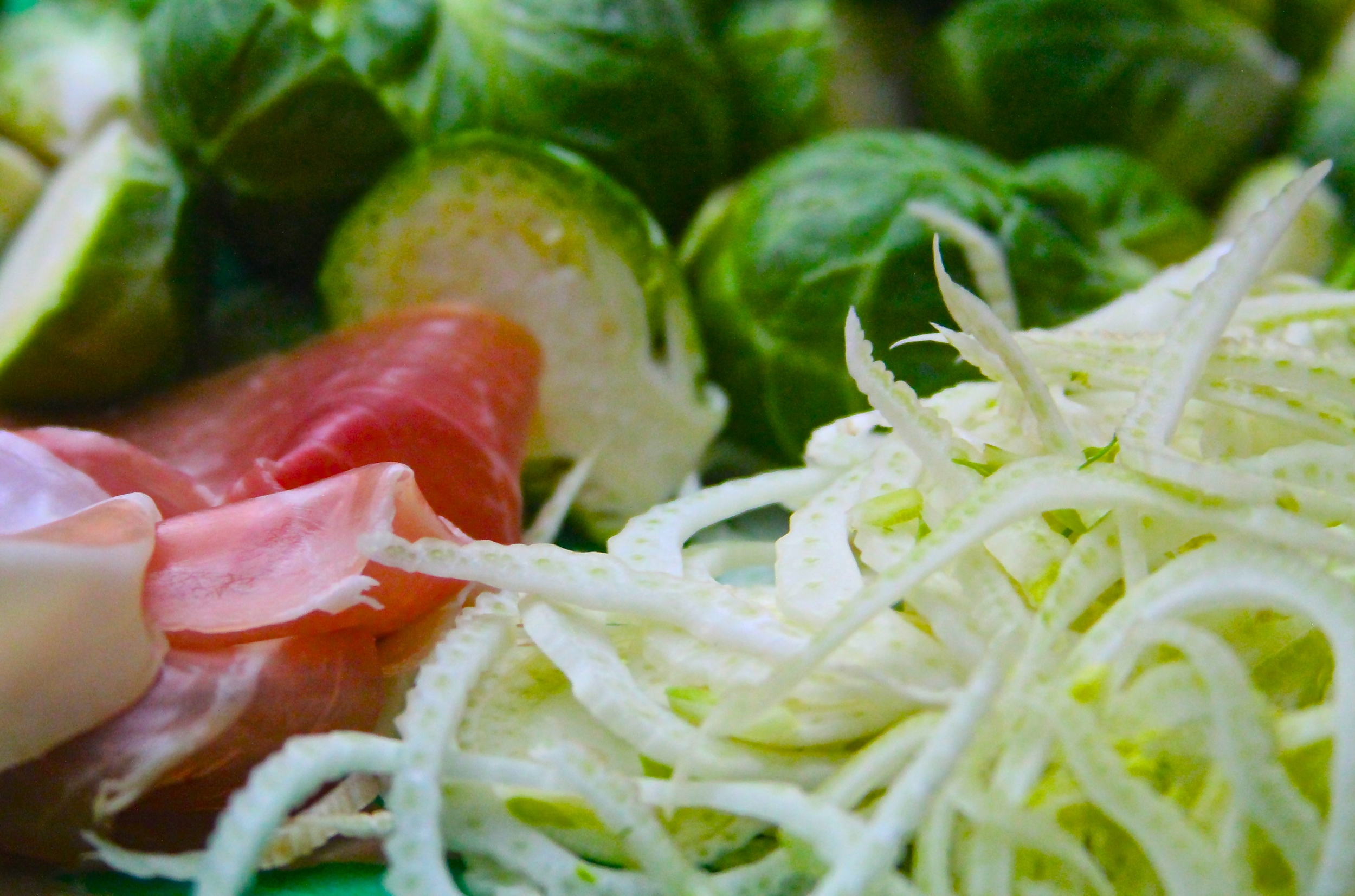 Brussels Sprouts, Fennel, and Serrano Ham