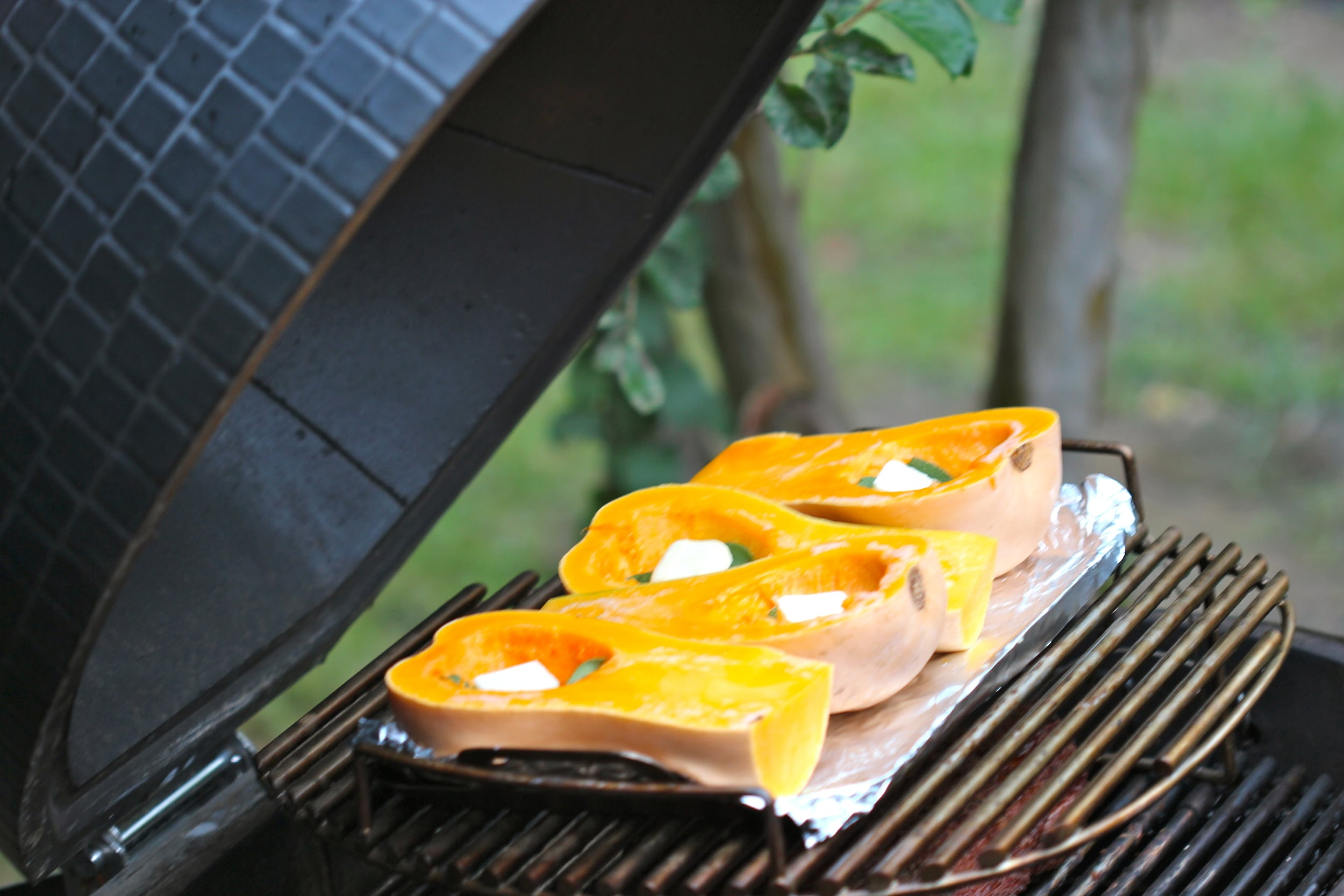 Smoked Squash with Butter and Sage