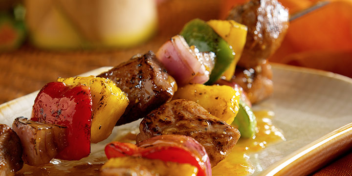 Grilled Polynesian Duck Kebabs