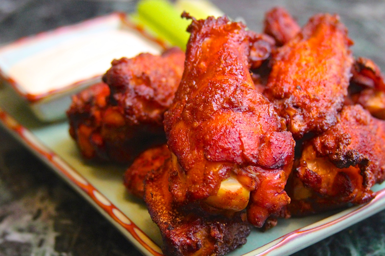 Smoked Wings with Sriracha Dry Rub