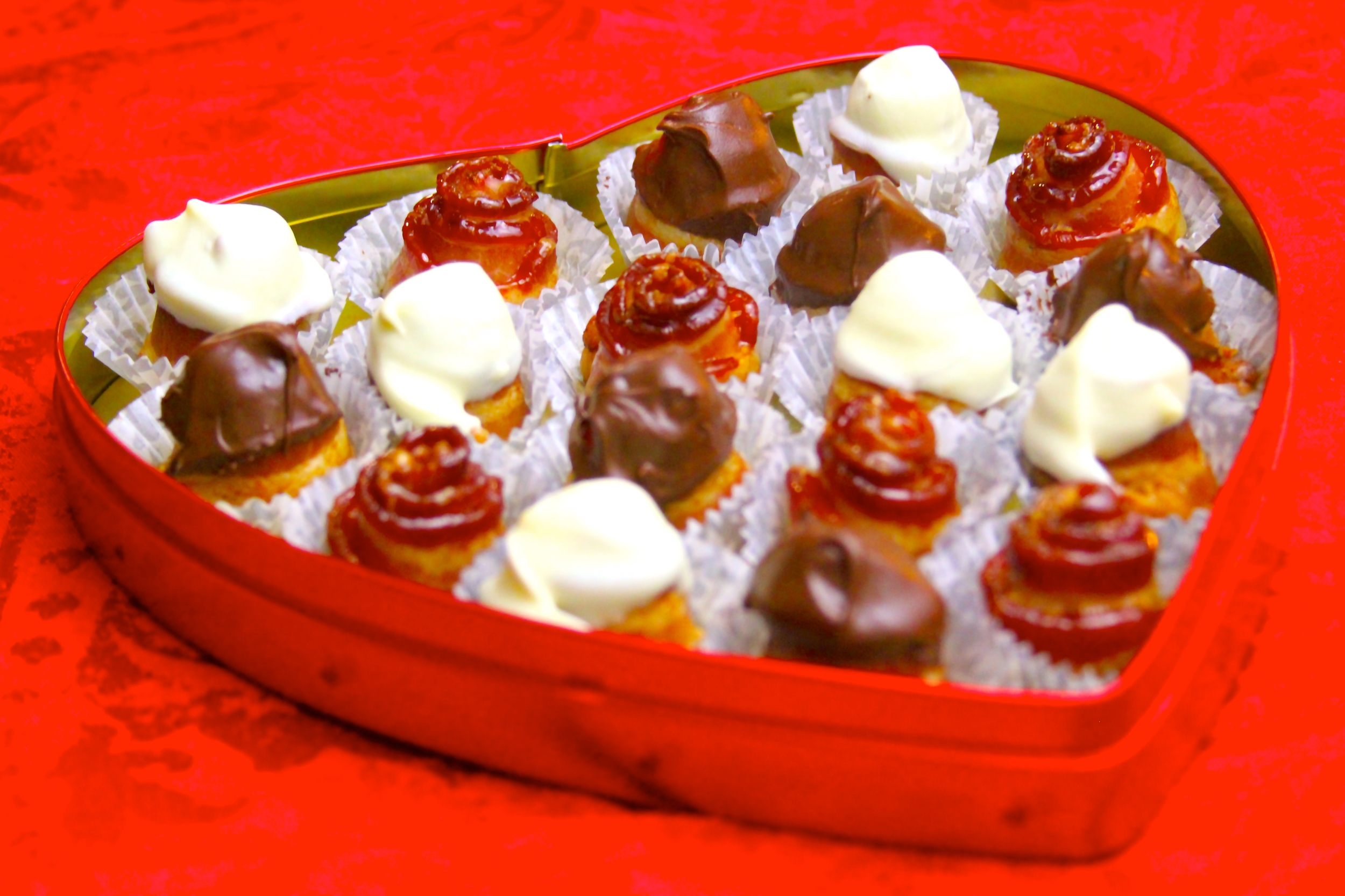 Valentine's Day Candied Bacon Chocolates