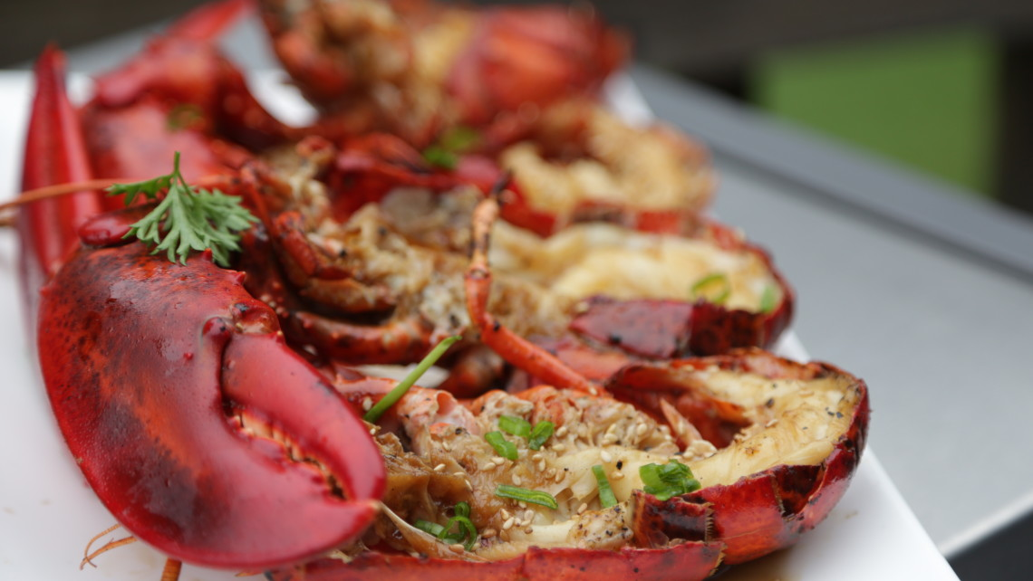 Grilled Maine Lobster with Ginger-Citrus Sauce  (  Photo Credit: Maine Lobster)