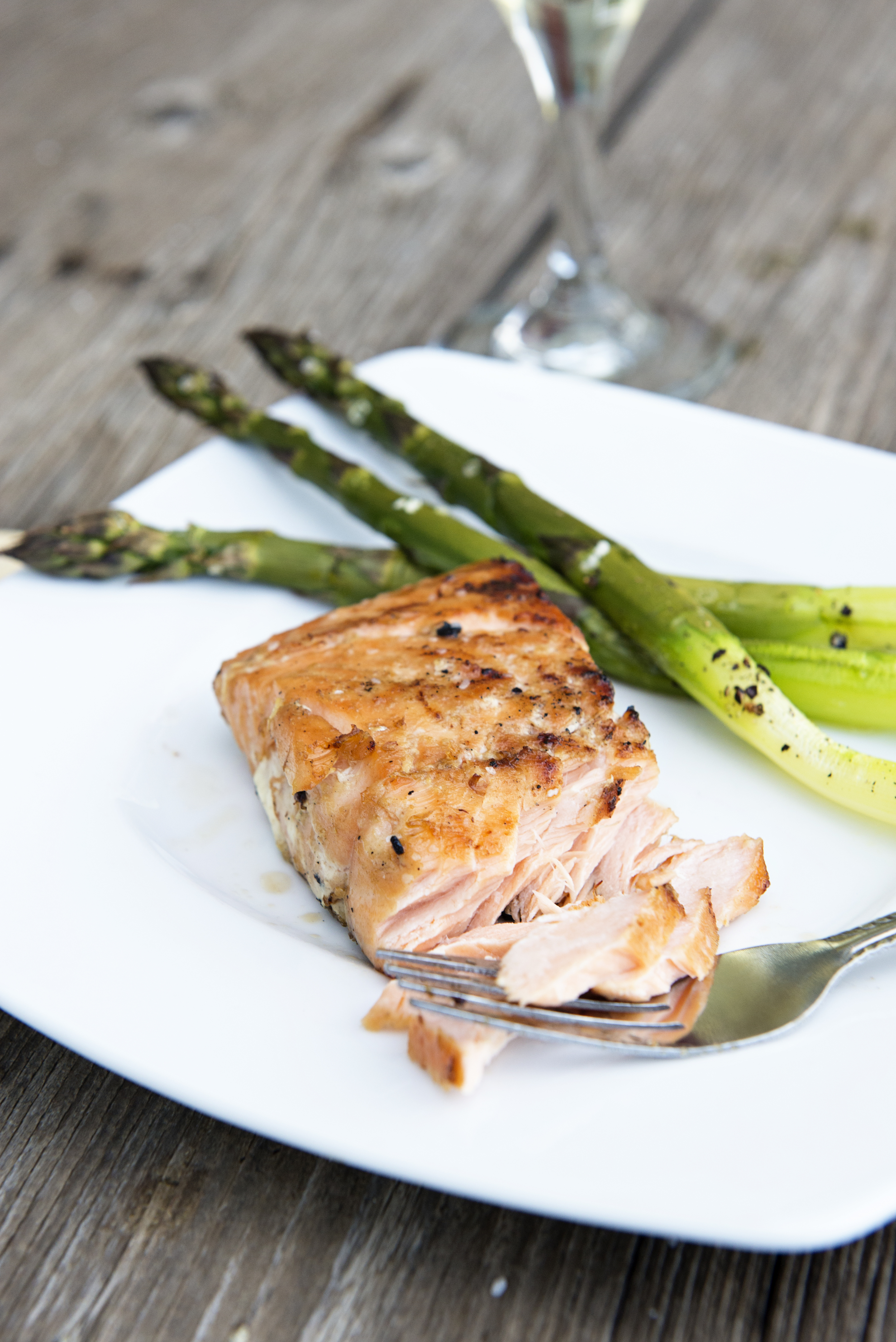 Whiskey Ginger Grilled Salmon (photo courtesy of The National Salmon Council and Dine & Dish)
