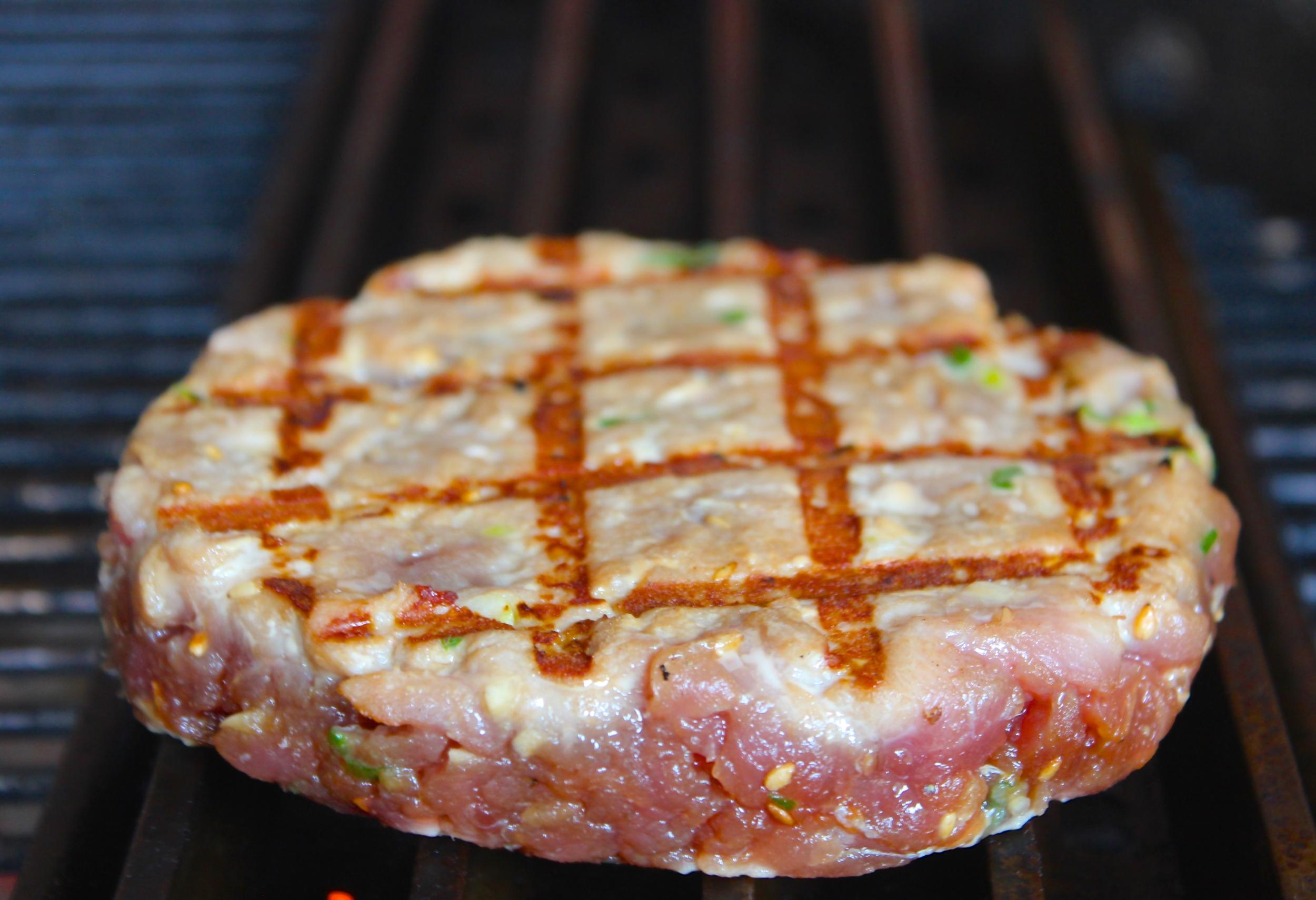 Seared Sushi Grade Tuna Patty