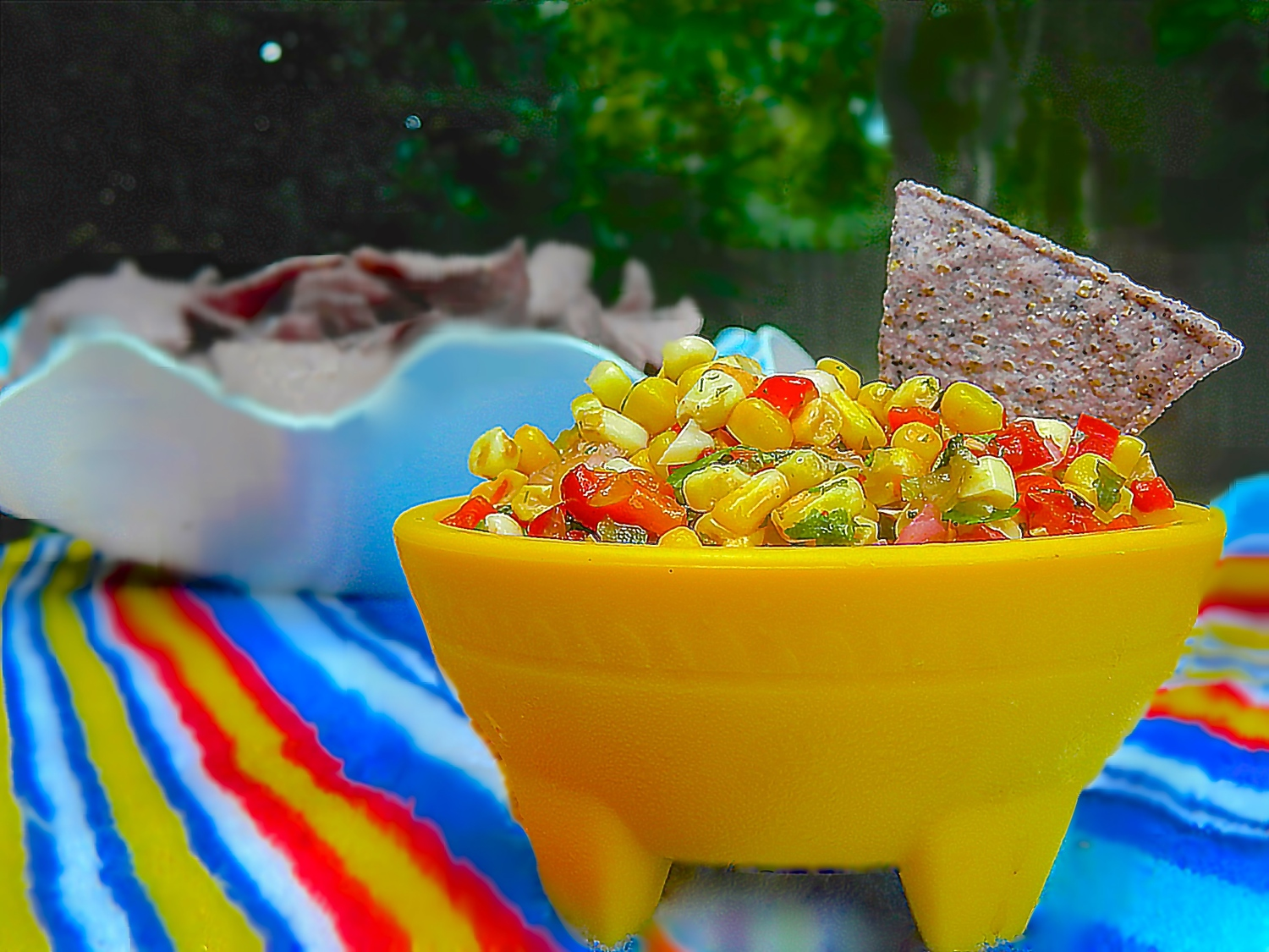 CHARRED CORN AND RED BELL PEPPER SALSA
