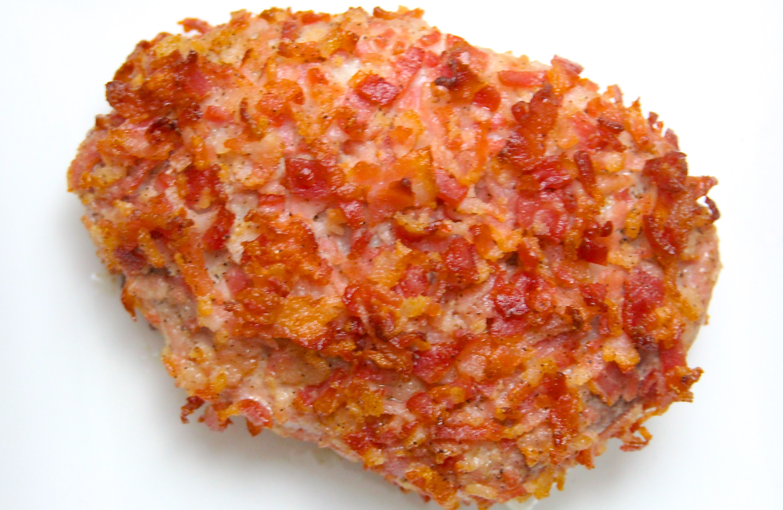 Grilled Bacon Crusted Pork Chop