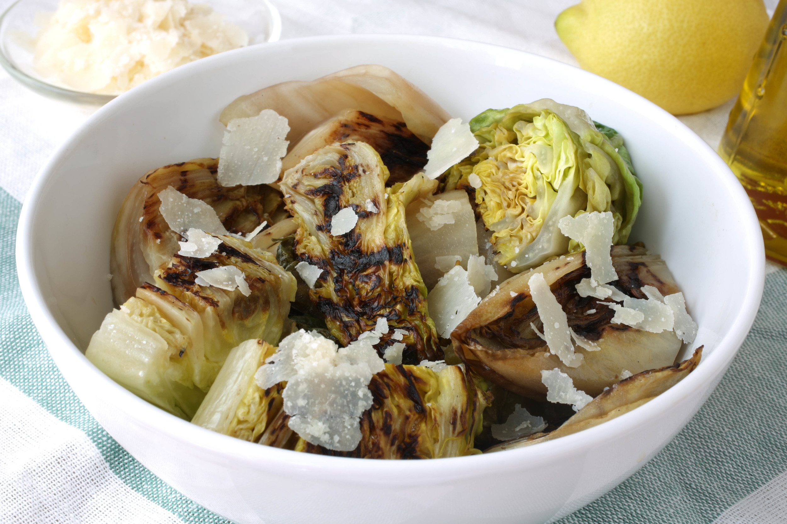 Grilled Endive and Romaine Salad