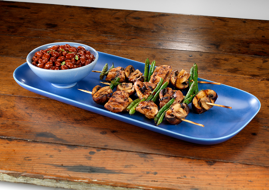 Grilled Asian BBQ Chicken Skewers