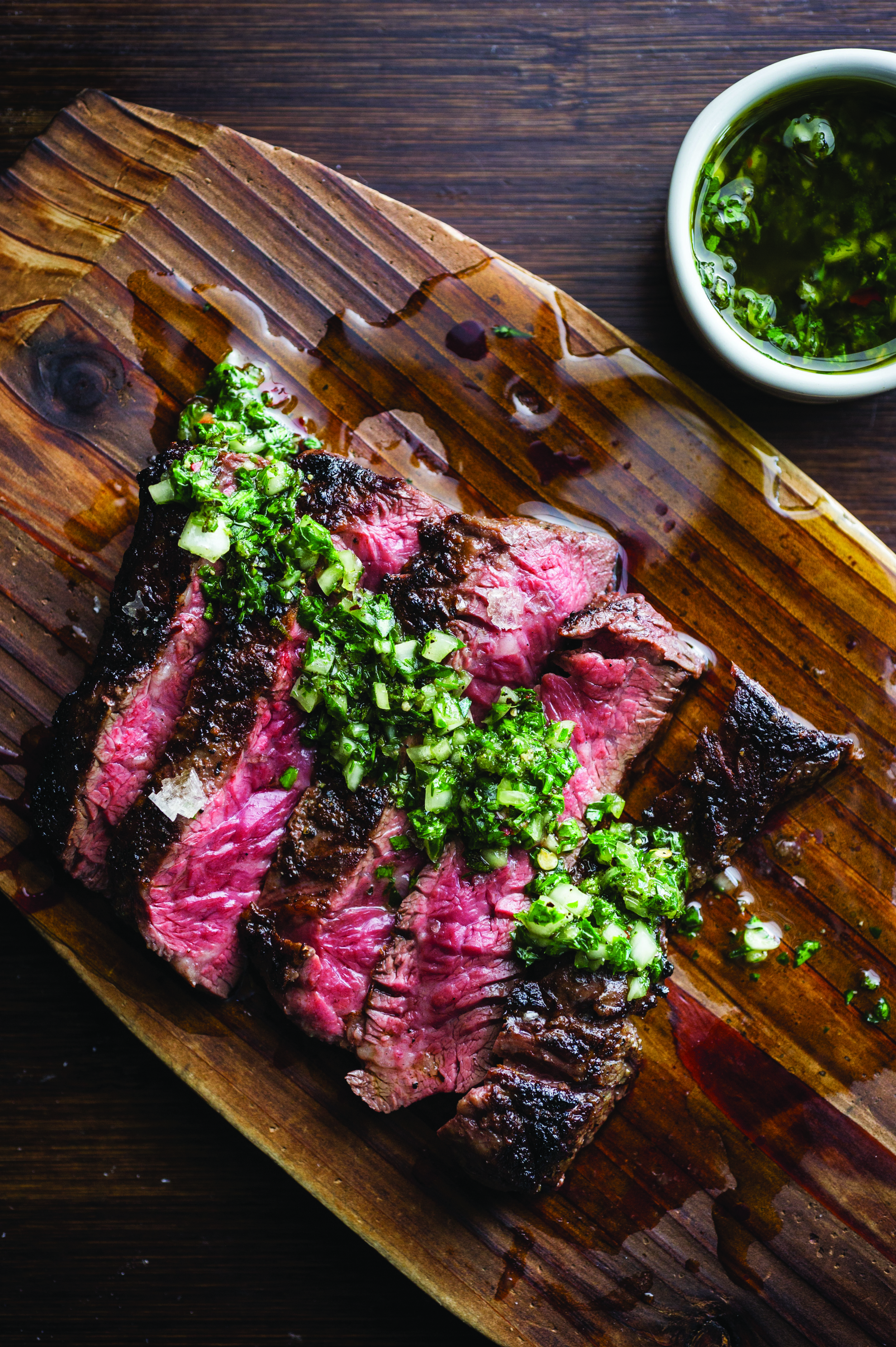 Grilled Skirt Steak with Onion Marmalade (photo by Evan Sung)