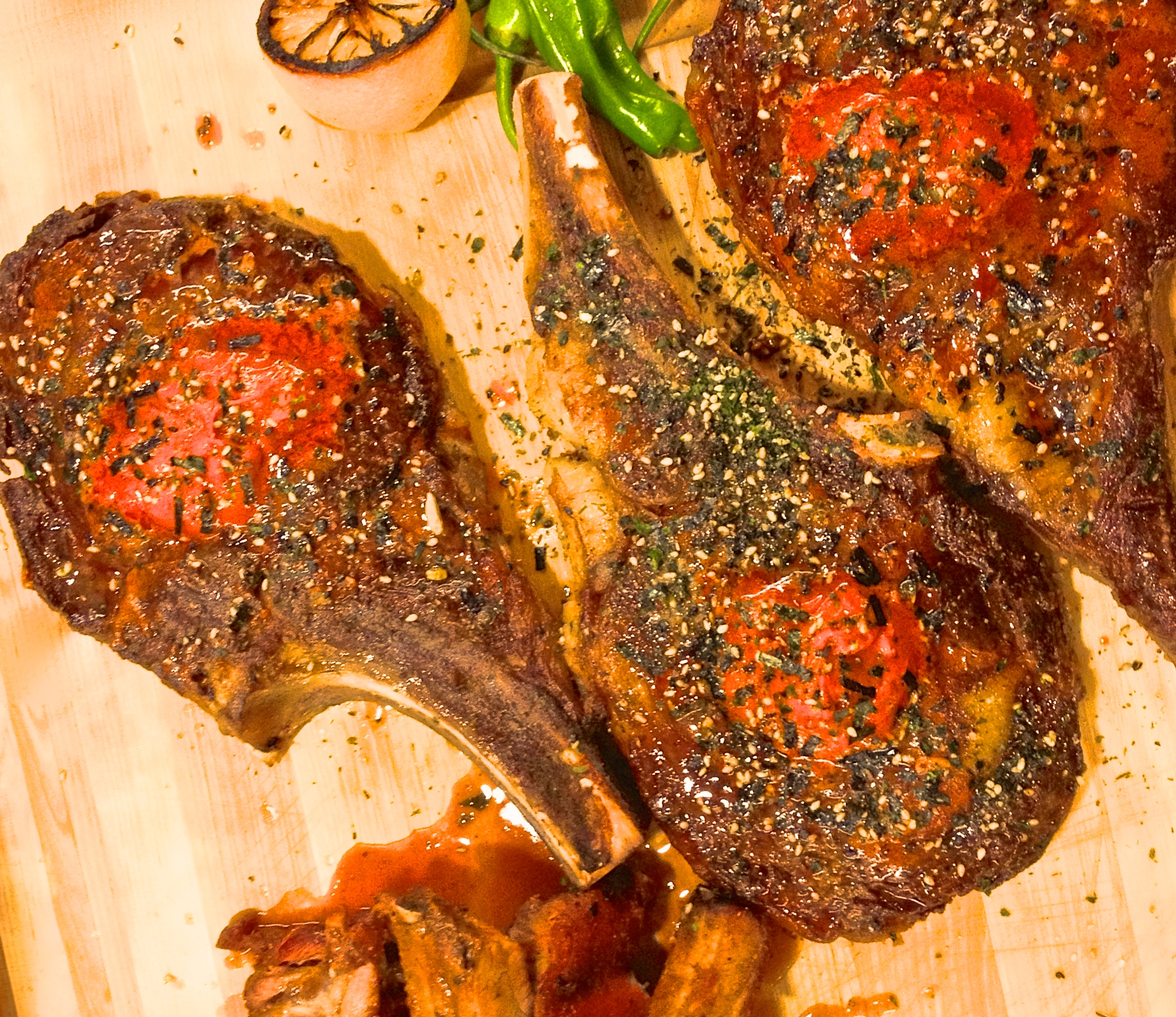 Ribeye Steaks with Gochujang Butter and Nori
