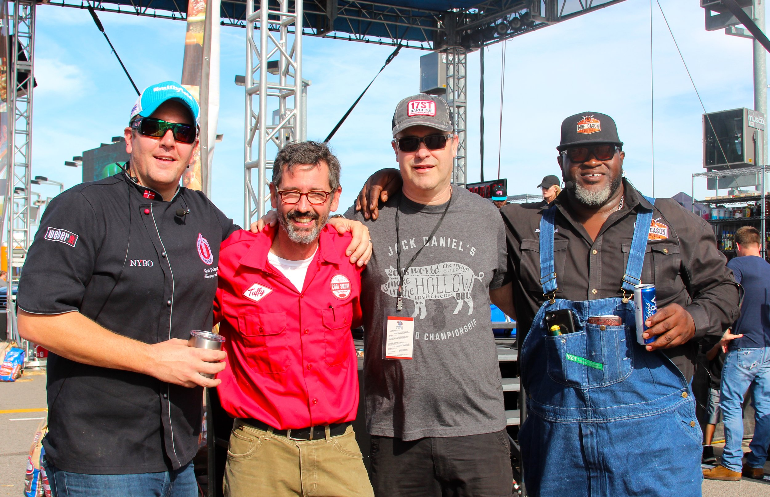 Smithfield Hog Wild Throwdown Judges Kevin Kolman, Tuffy Stone, and Moe Cason Joined by Grillocracy's Clint Cantwell