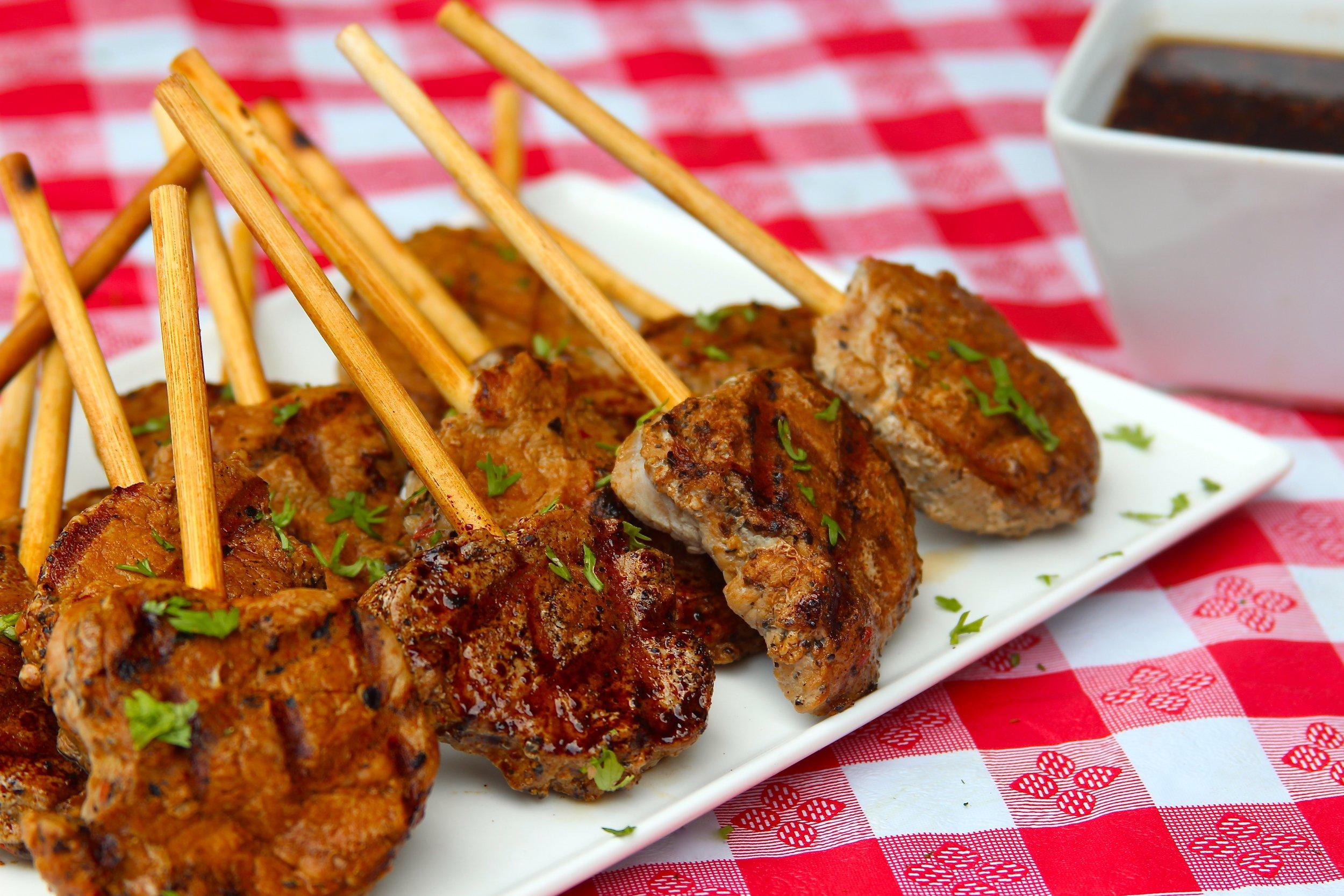 Smithfield Pork Tenderloin Lollipops with Soy-Ginger Dipping Sauce