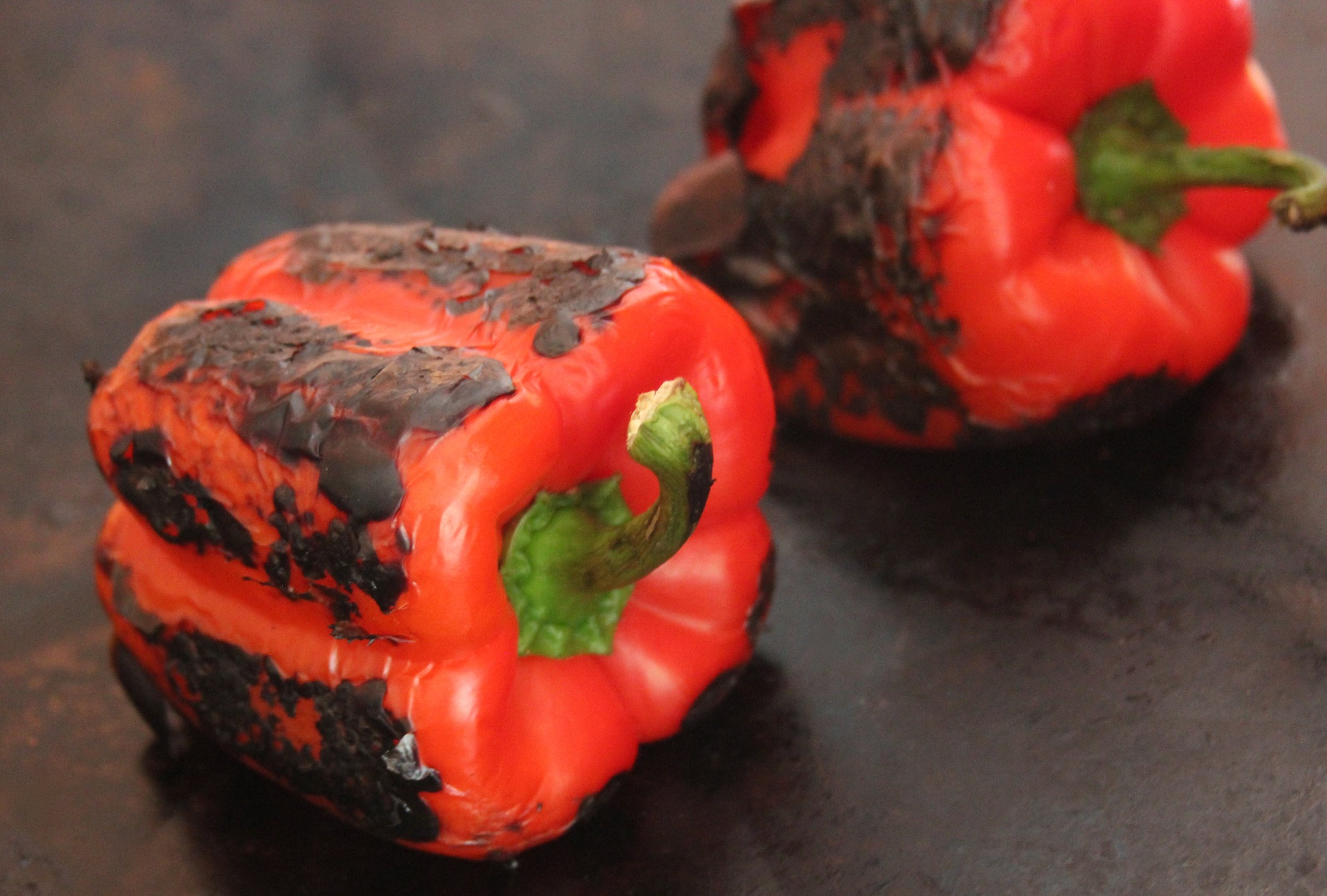 Charred red Peppers