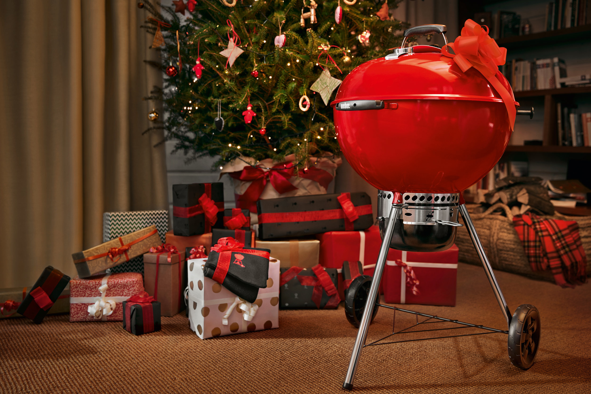 Red Weber Kettle Grill