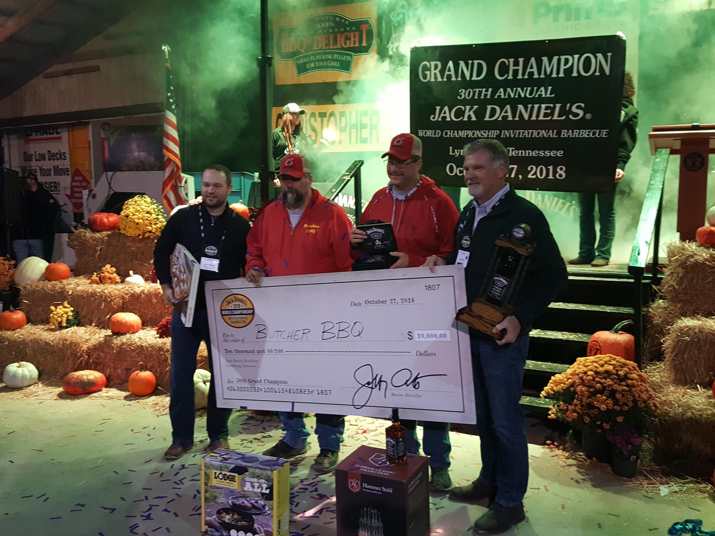 Butcher BBQ Wins the 2018 Jack Daniels Invitational