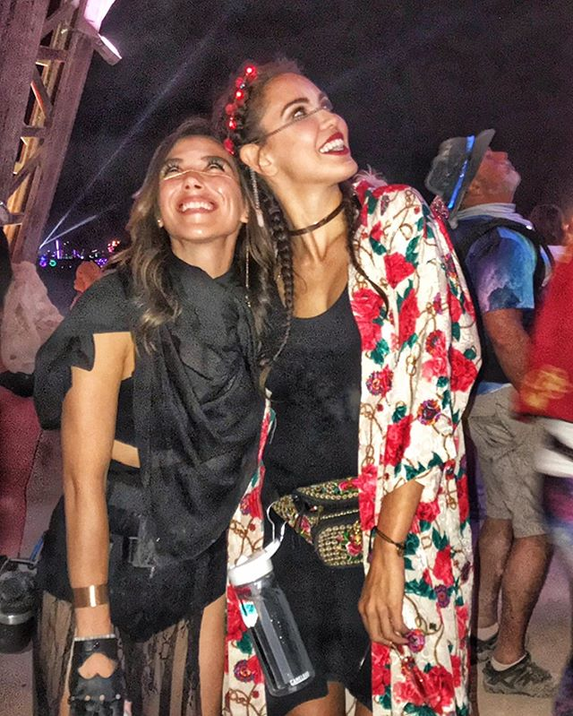 When #BurningMan blesses you with an instant sister for life. ❤️🌹❤️ #soulsisters