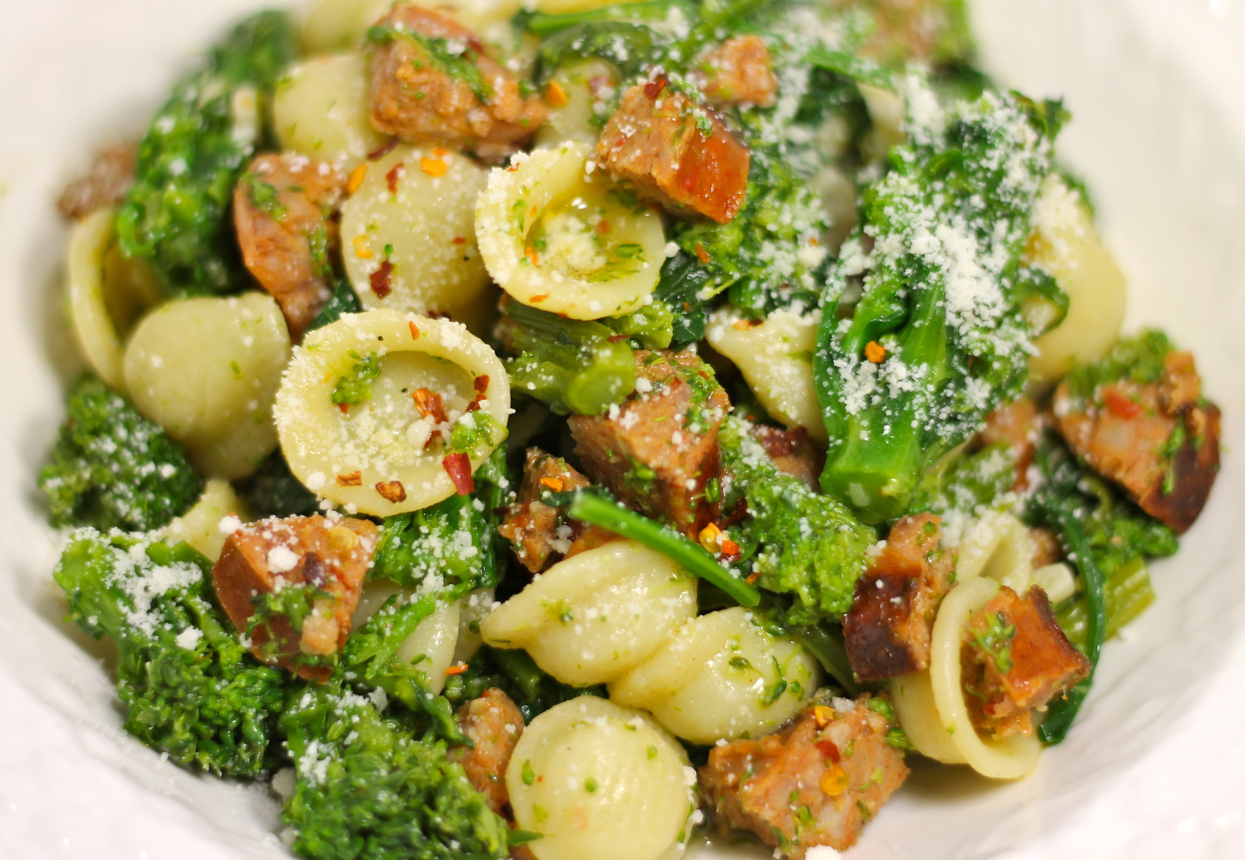 Brocoli Raab and Sausage Pasta