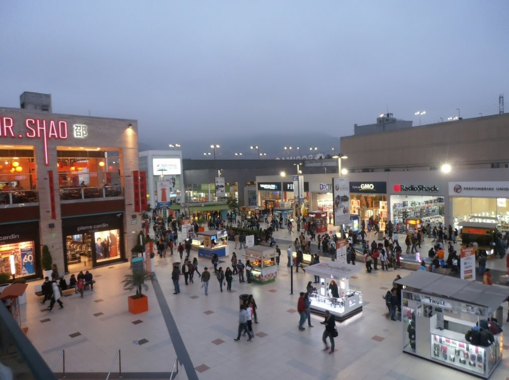Inside Mega Plaza. Notice it has a large outdoor plaza that functions as a socializing space.