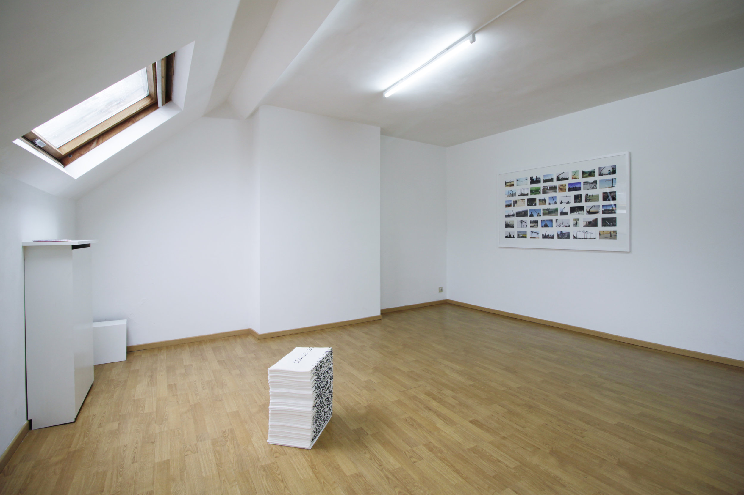 Léa Belooussovitch : public view   Solo show at  Platform 102   September 2015, Brussels, Belgium