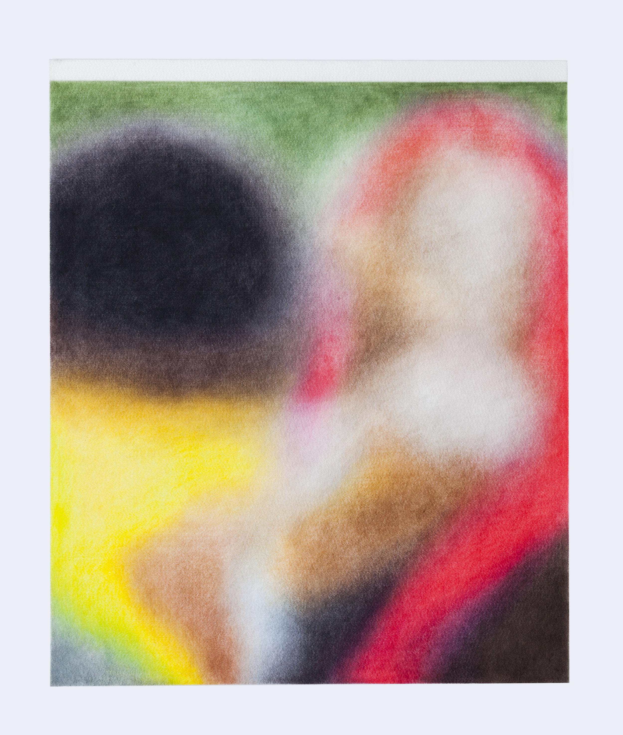 Série ''Relatives''- «  Nairobi, Kenya, 17 janvier 2019 »  Drawing with color pencil on felt   Dessin aux crayons de couleur sur feutre 50x60cm 2019